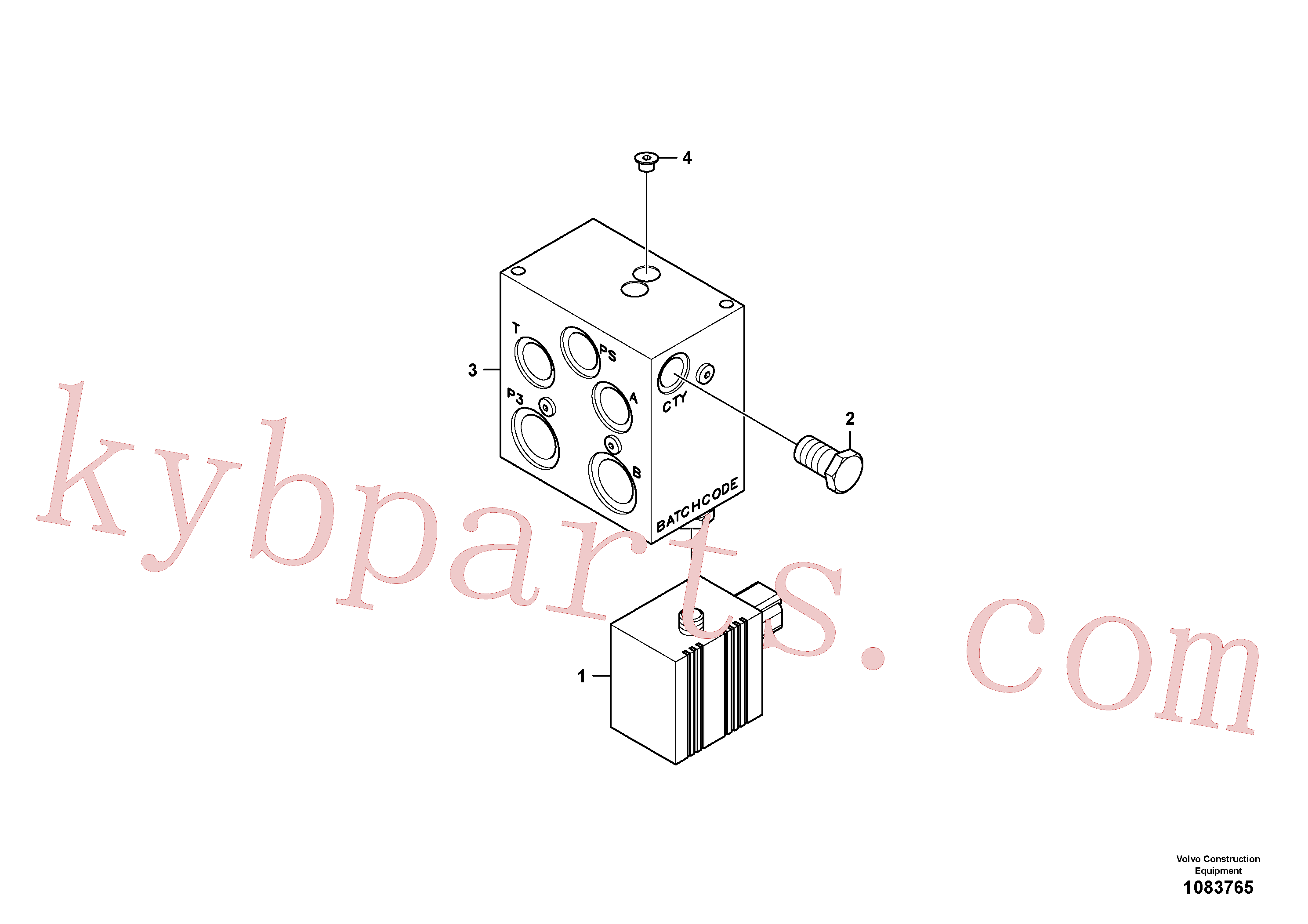 VOE14513668 for Volvo Valve, quickfit(1083765 assembly)