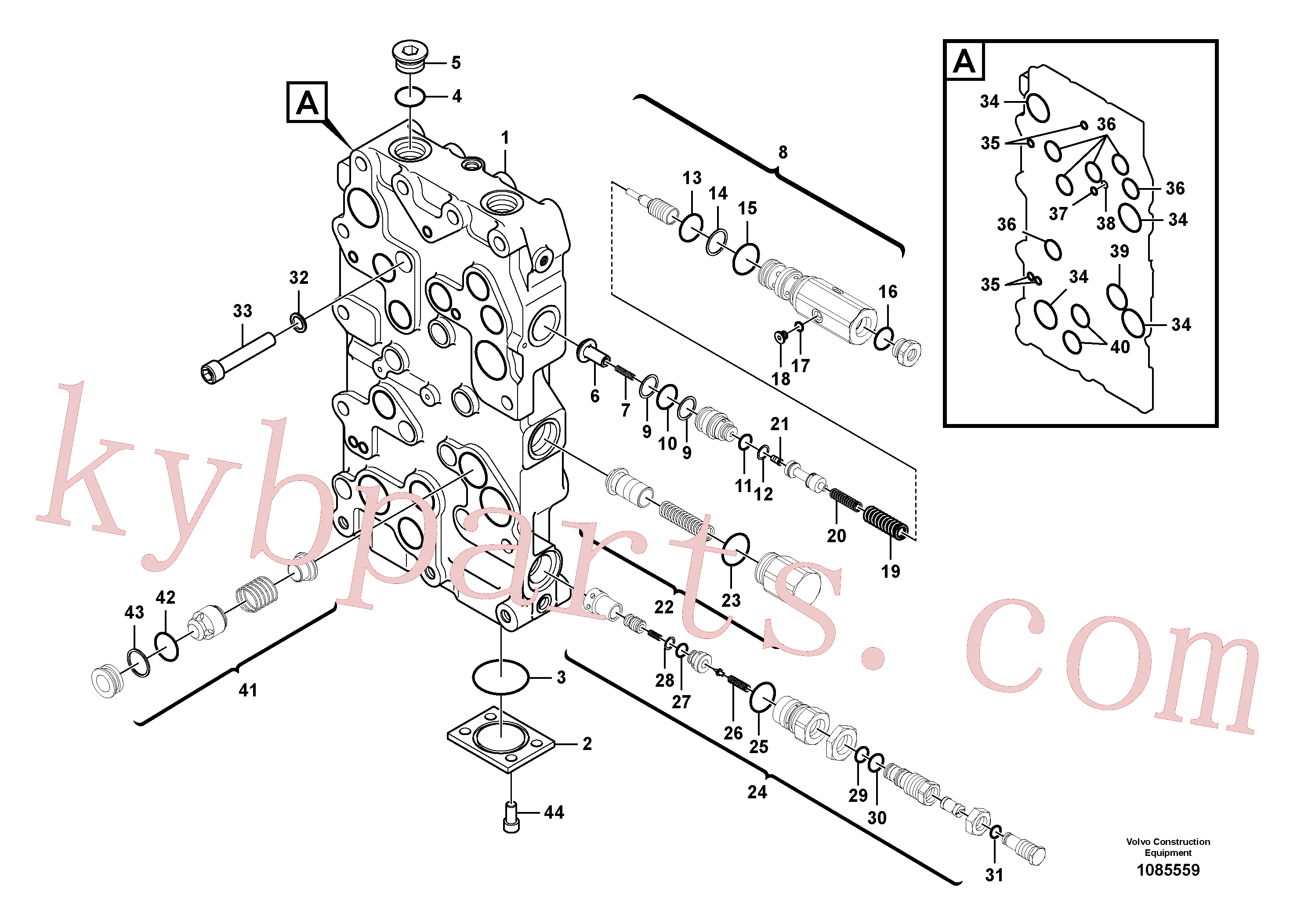 VOE984087 for Volvo Main control valve(1085559 assembly)