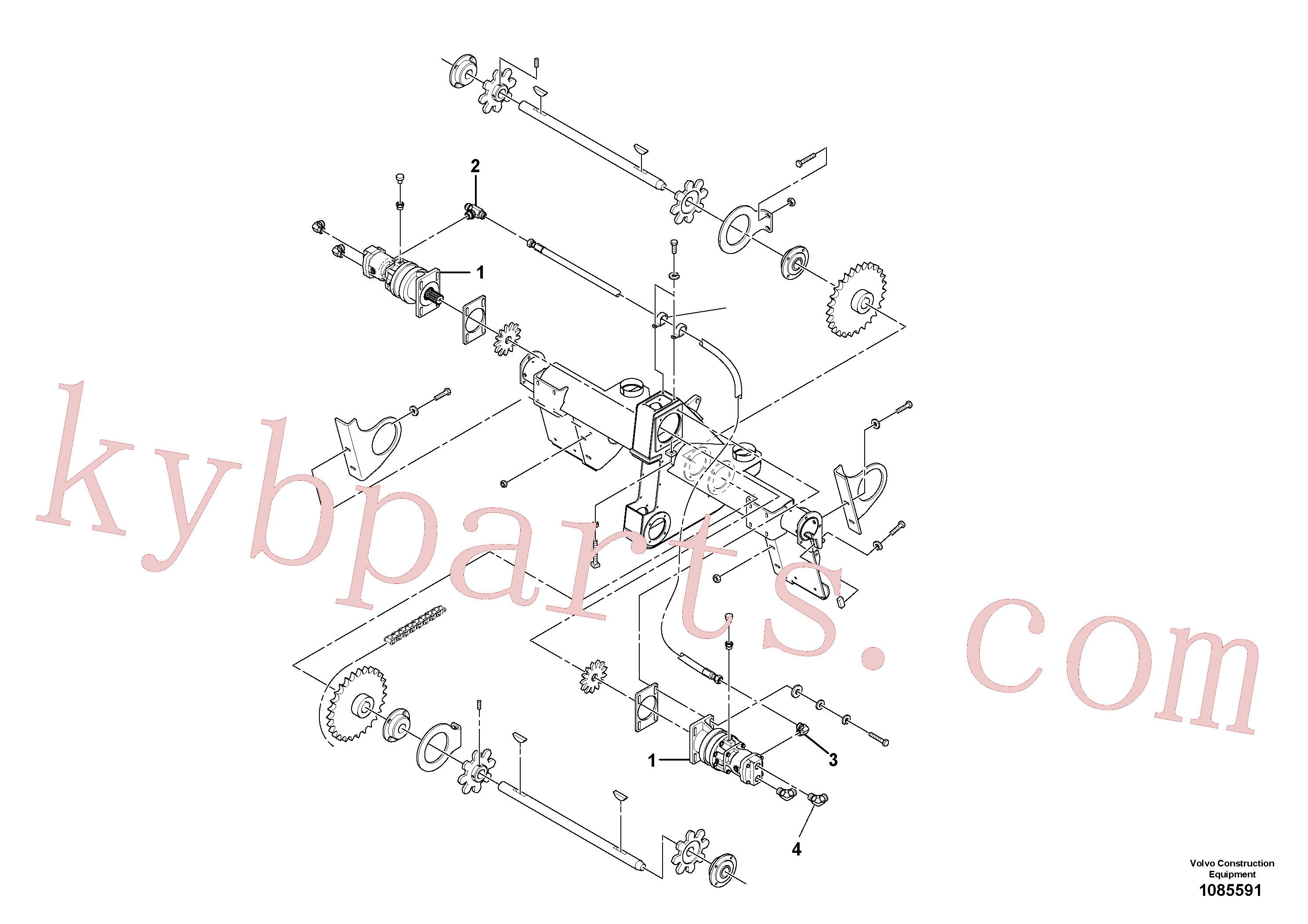 RM59922724 for Volvo Auger/conveyor Drive Assembly(1085591 assembly)