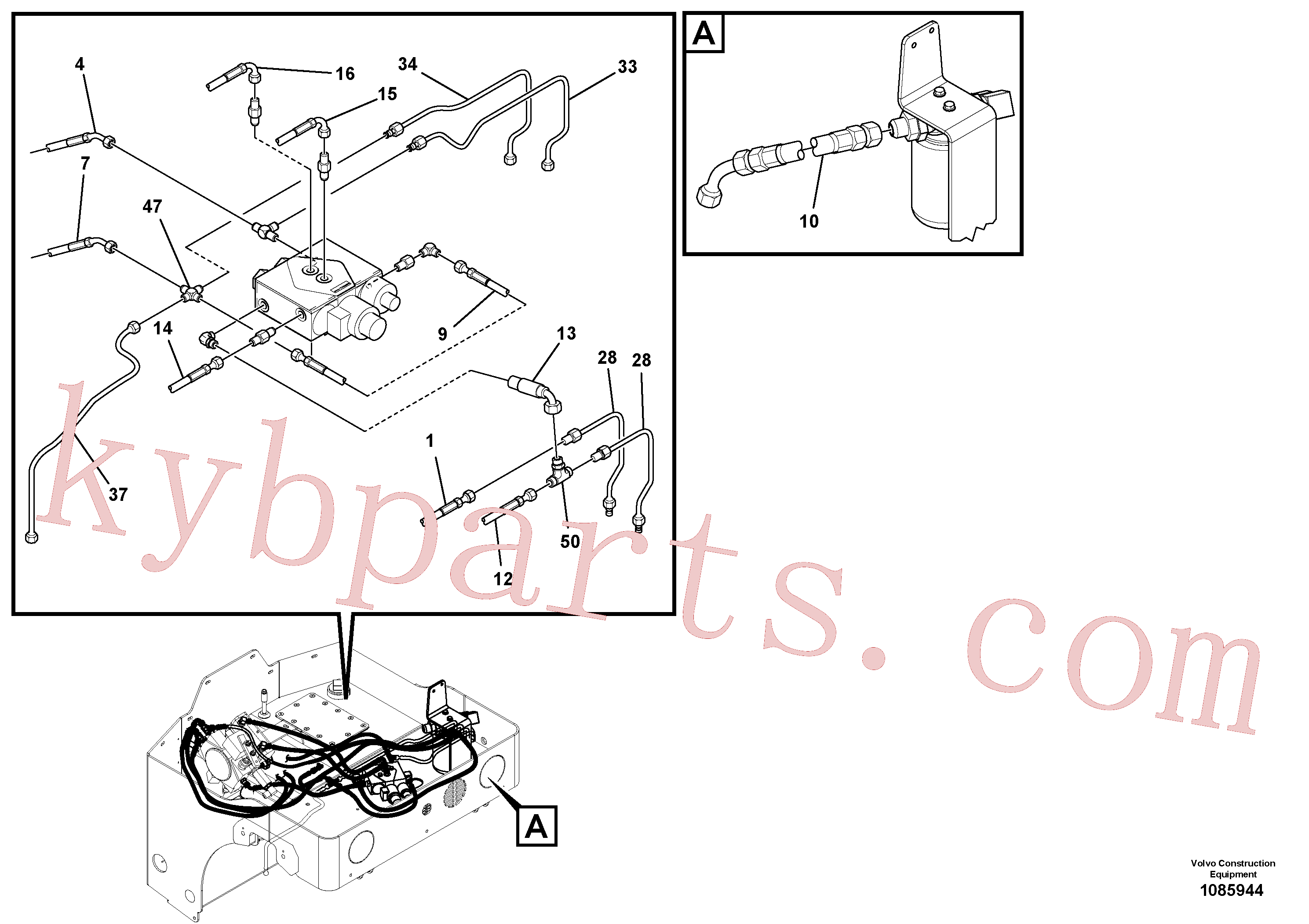 RM59280933 for Volvo Hydraulic Hoses/Tube Clamp Installation(1085944 assembly)
