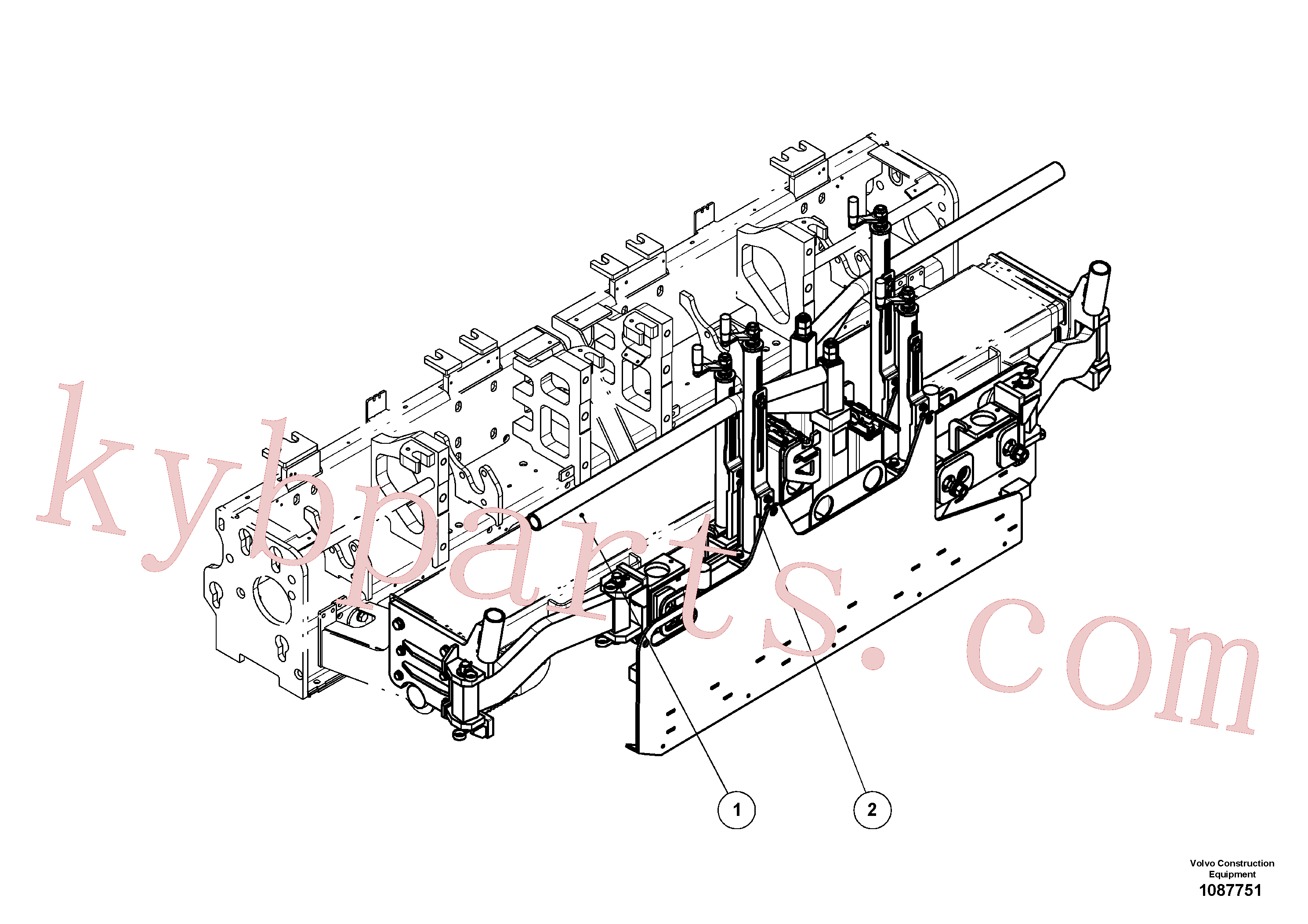 RM80804016 for Volvo Hinged lateral limitation(1087751 assembly)