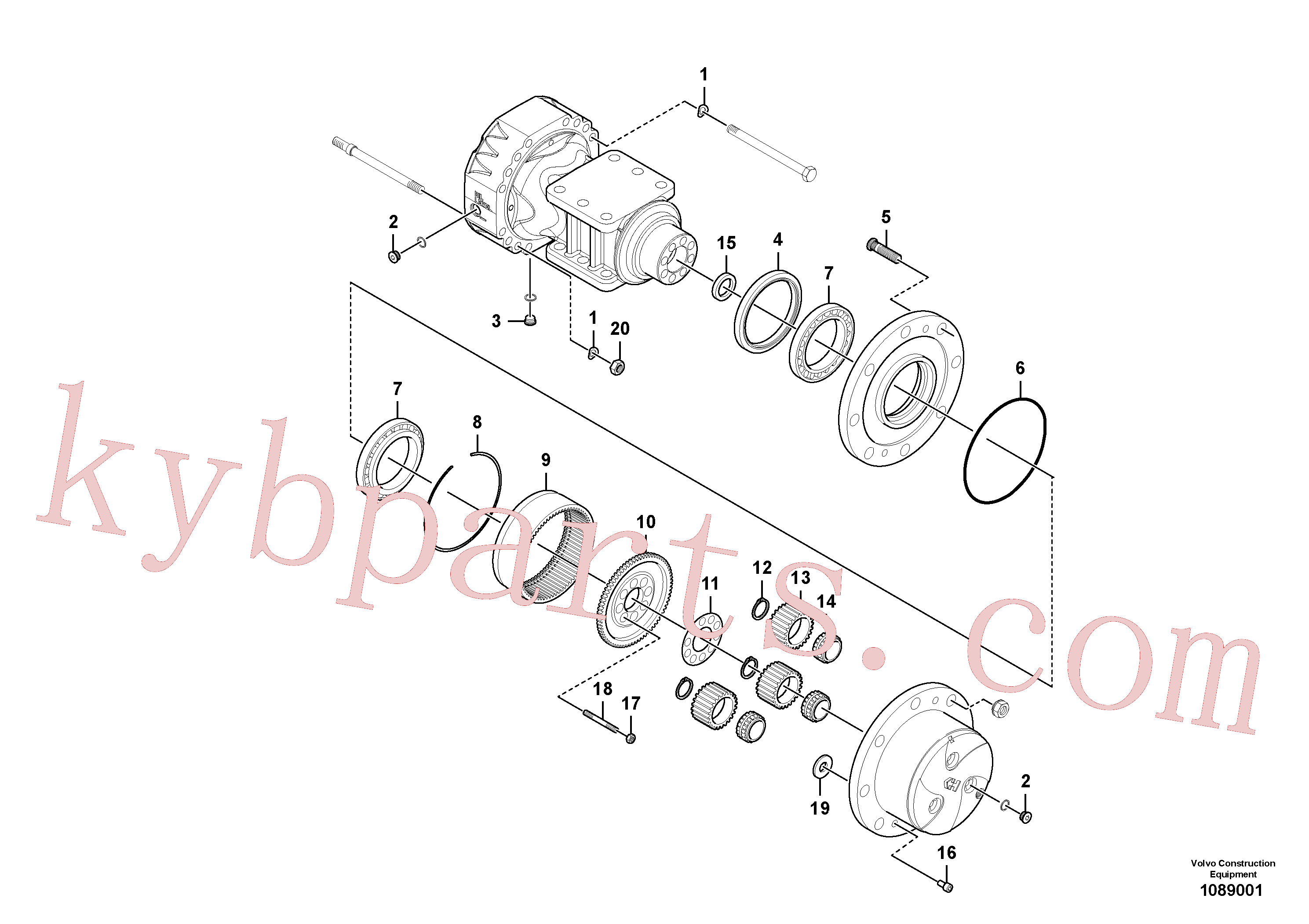 RM59146670 for Volvo Rear axle, Hub reduction(1089001 assembly)