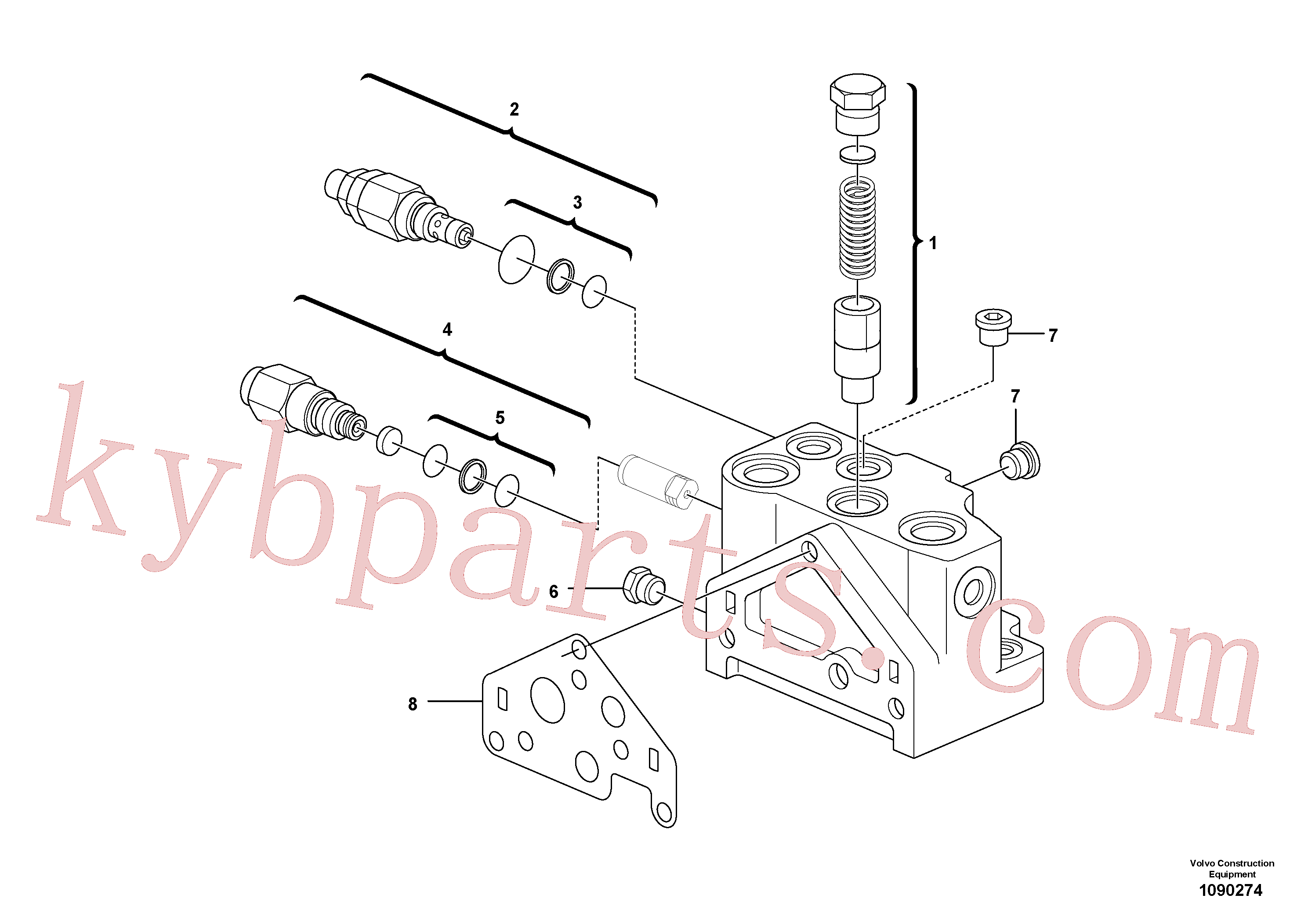PJ7417744 for Volvo Valve section(1090274 assembly)