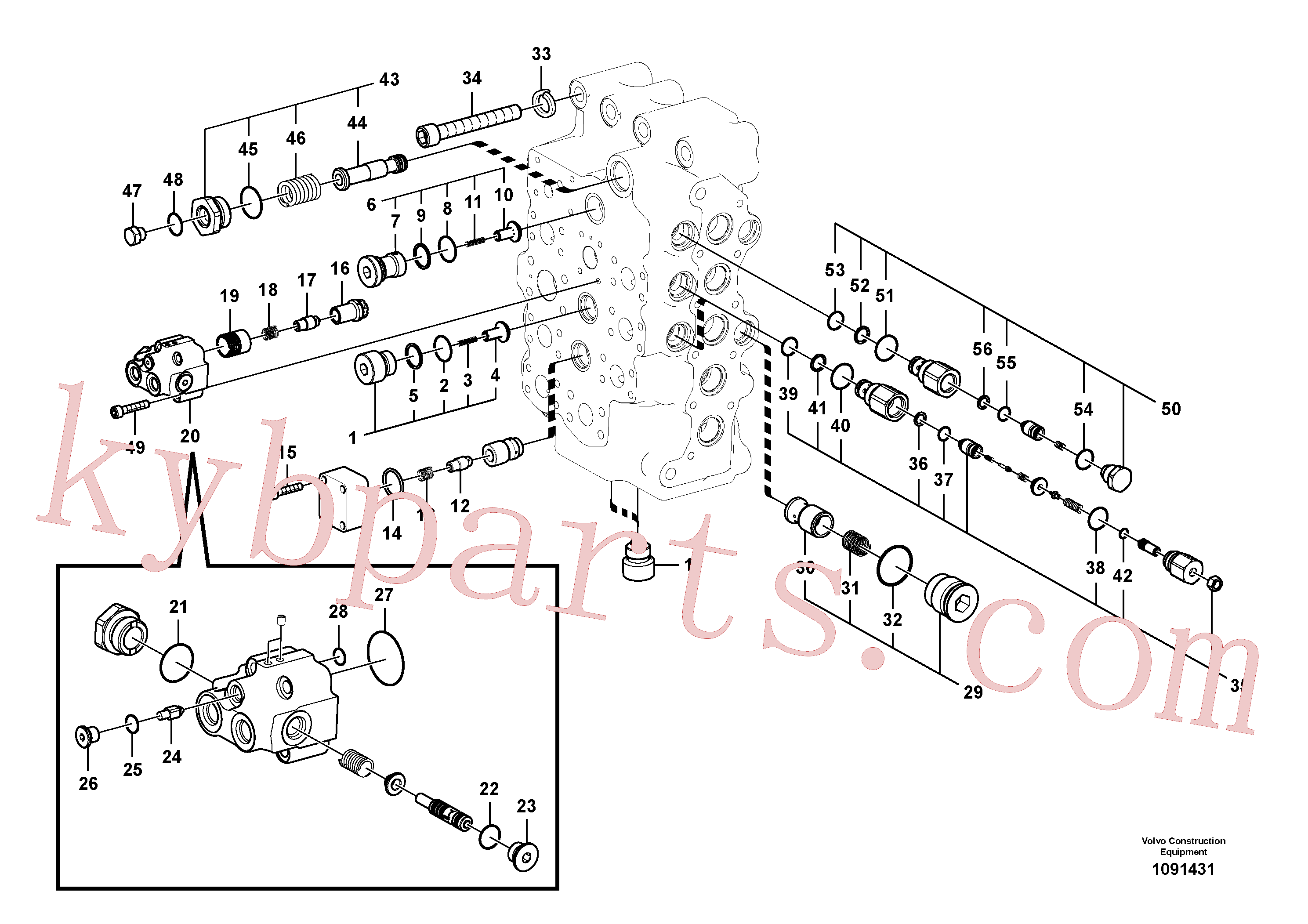 VOE14513395 for Volvo Main control valve(1091431 assembly)