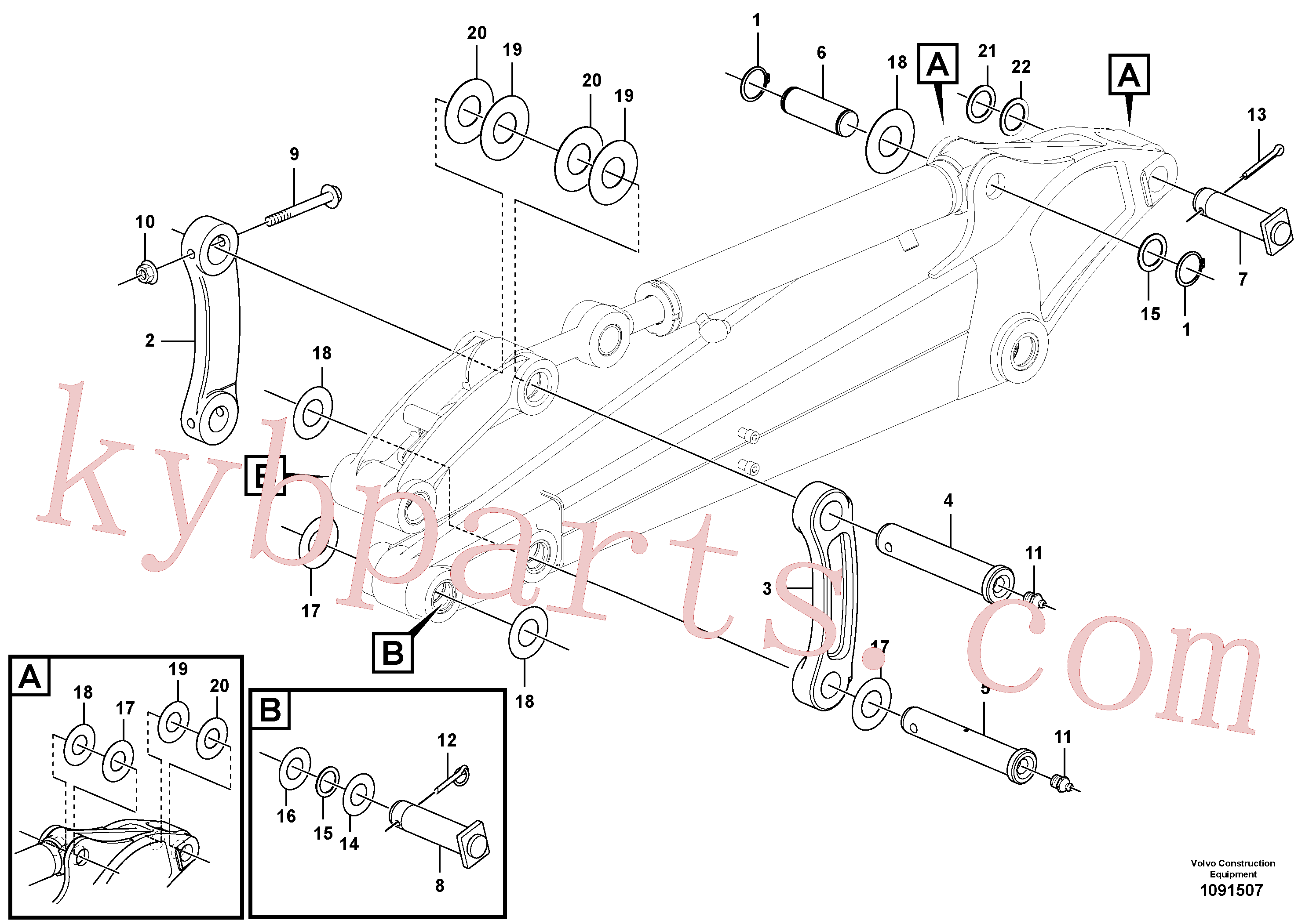 PJ3780188 for Volvo Links to connecting rod(1091507 assembly)
