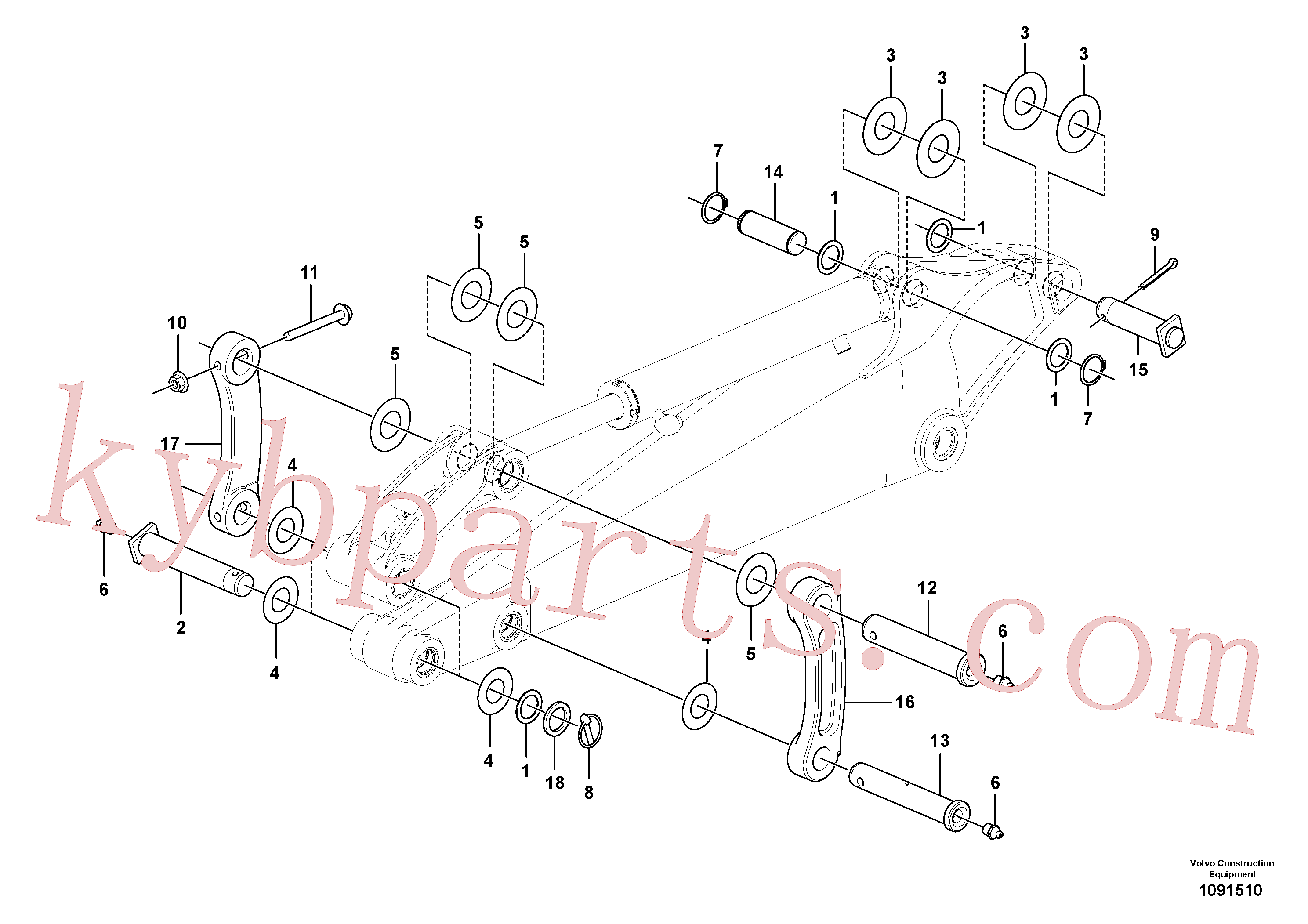 PJ3780188 for Volvo Links to dipper arm(1091510 assembly)