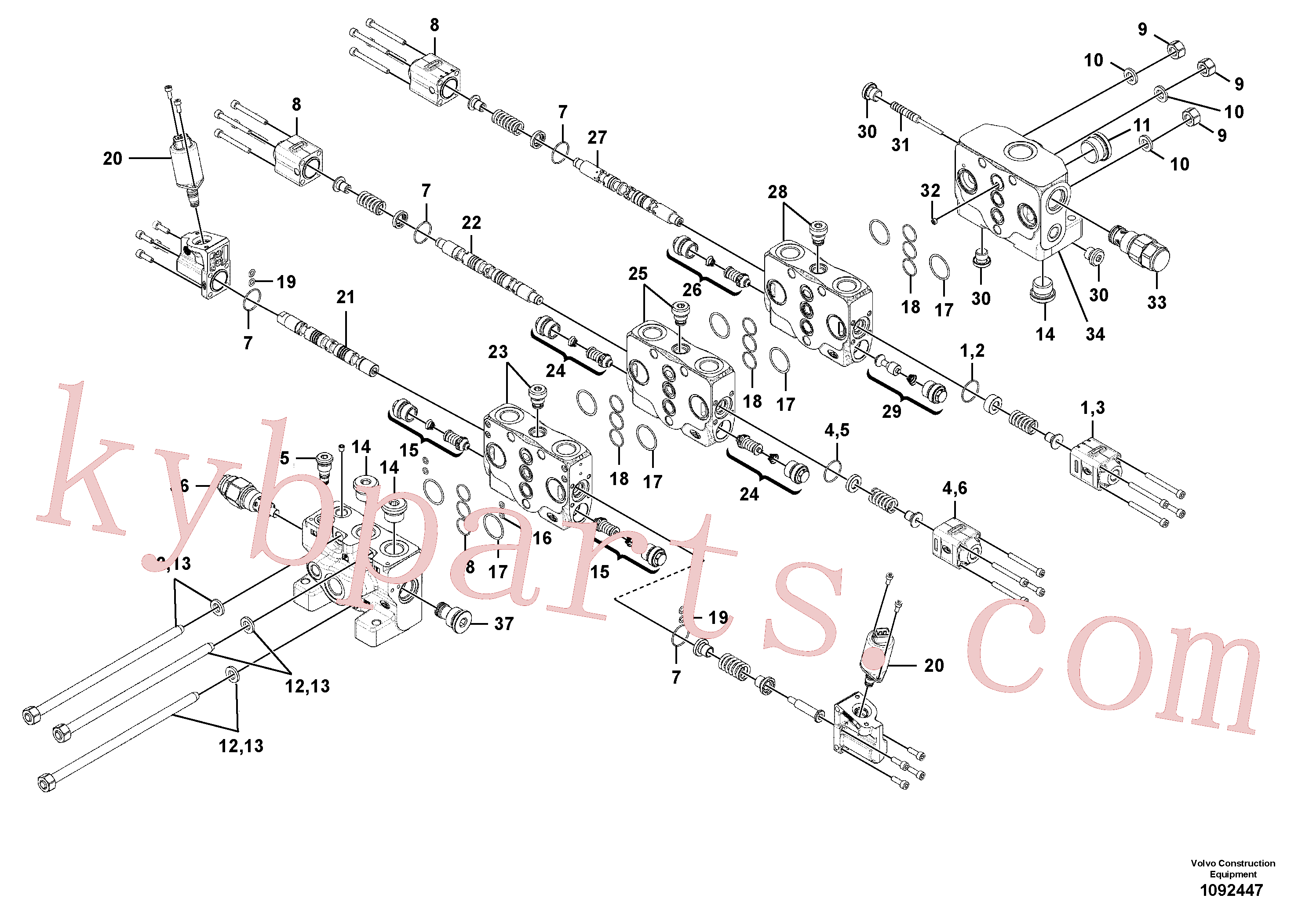 VOE11370776 for Volvo Valve(1092447 assembly)
