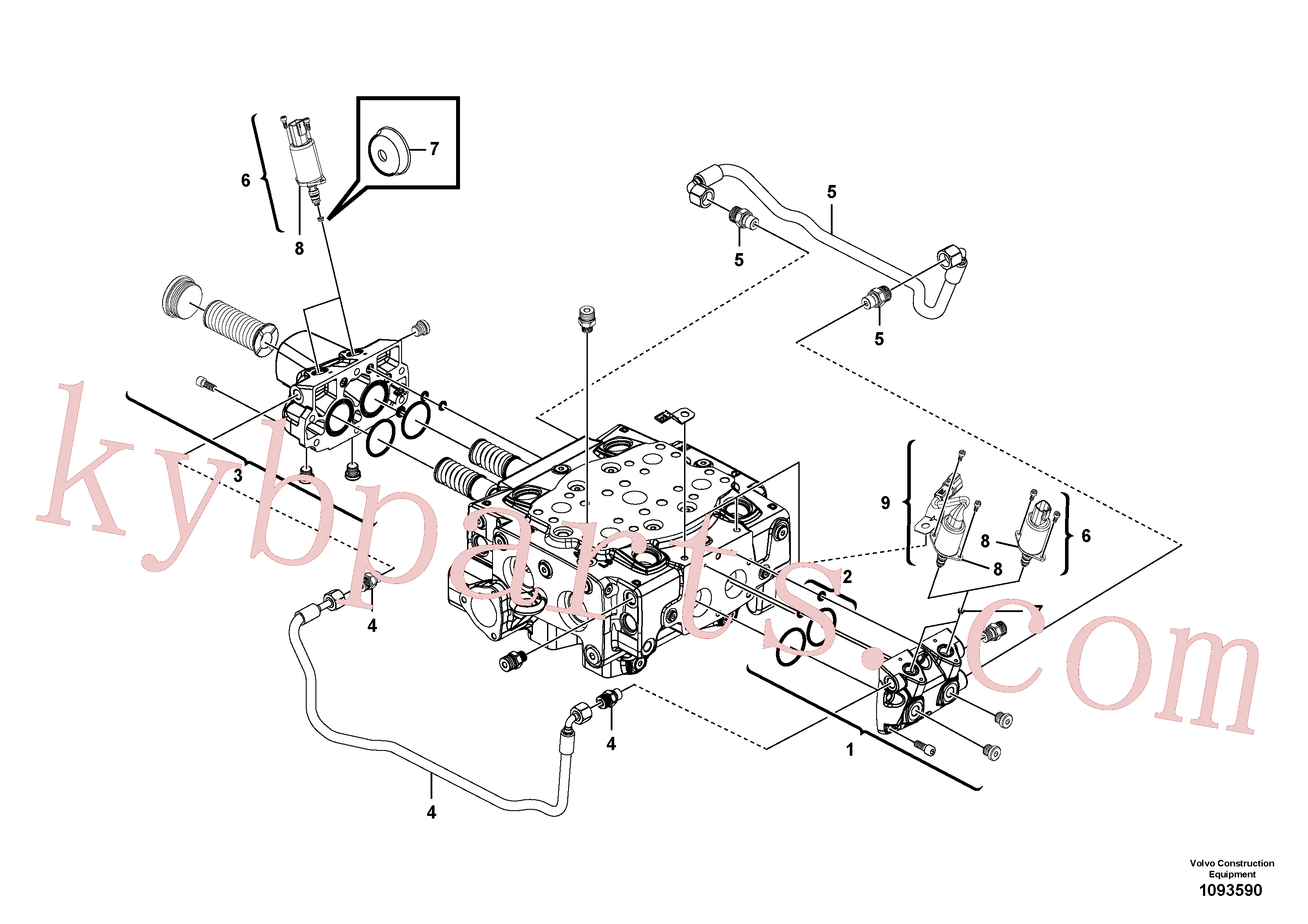 VOE15165300 for Volvo Main control valve(1093590 assembly)