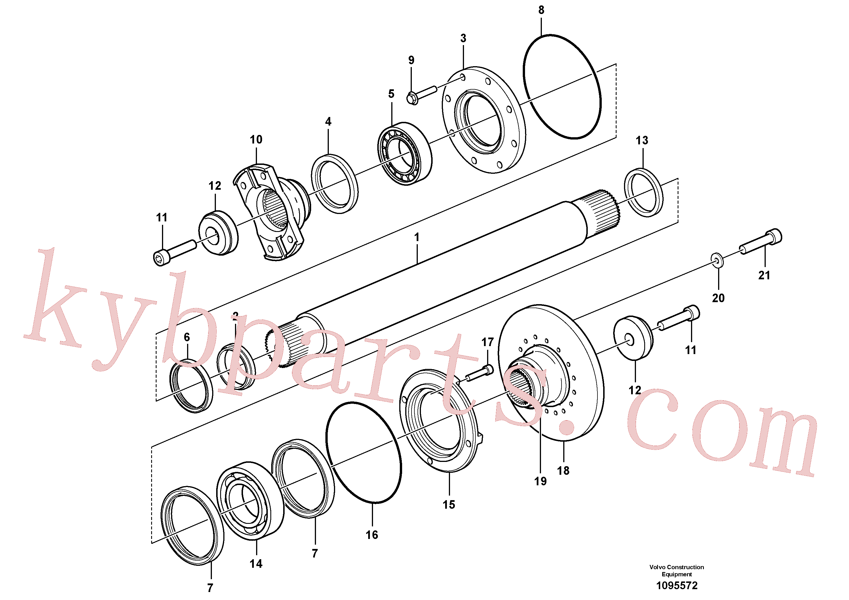 VOE11190761 for Volvo Intermediate shaft(1095572 assembly)