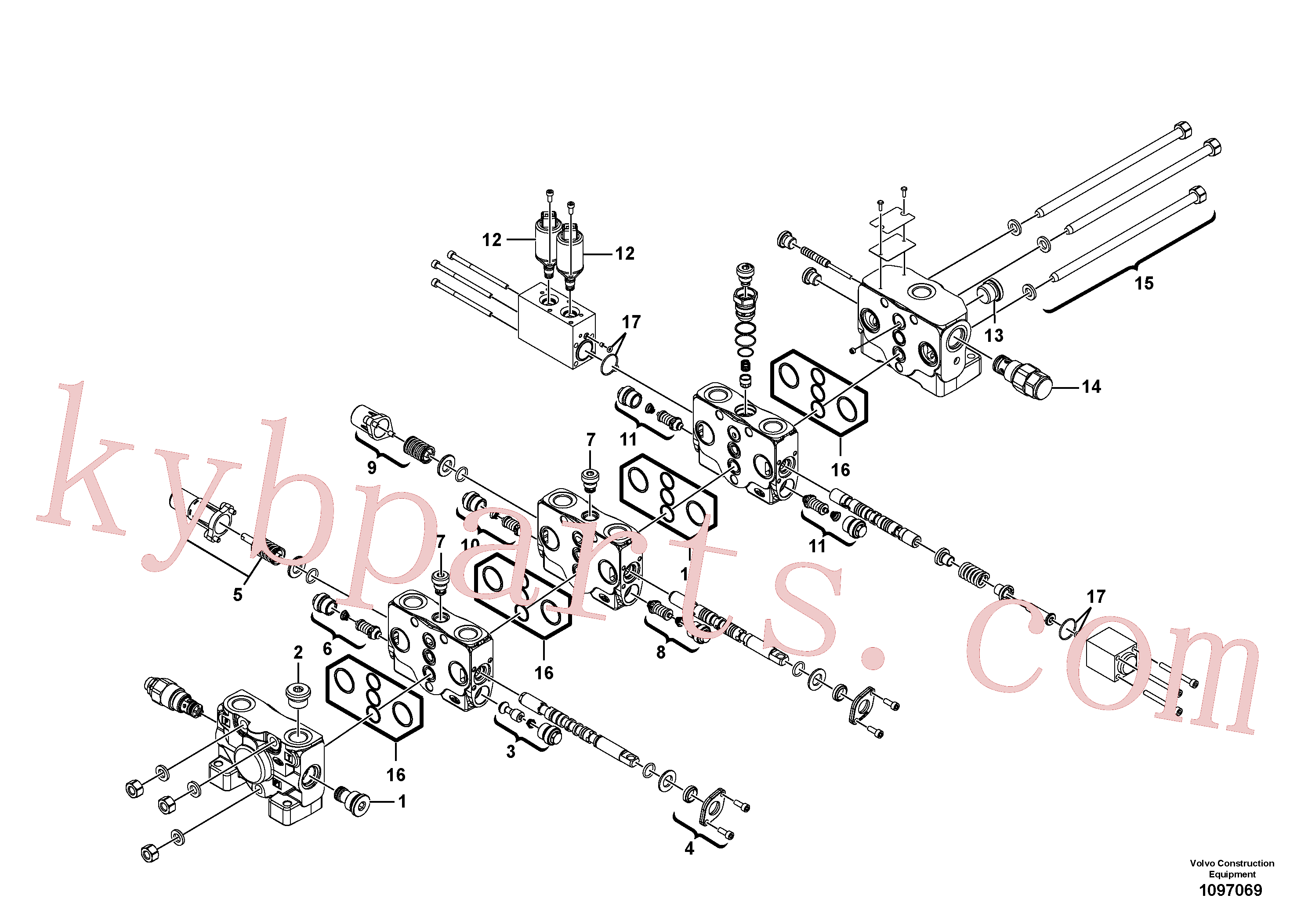 VOE11370777 for Volvo Control valve(1097069 assembly)