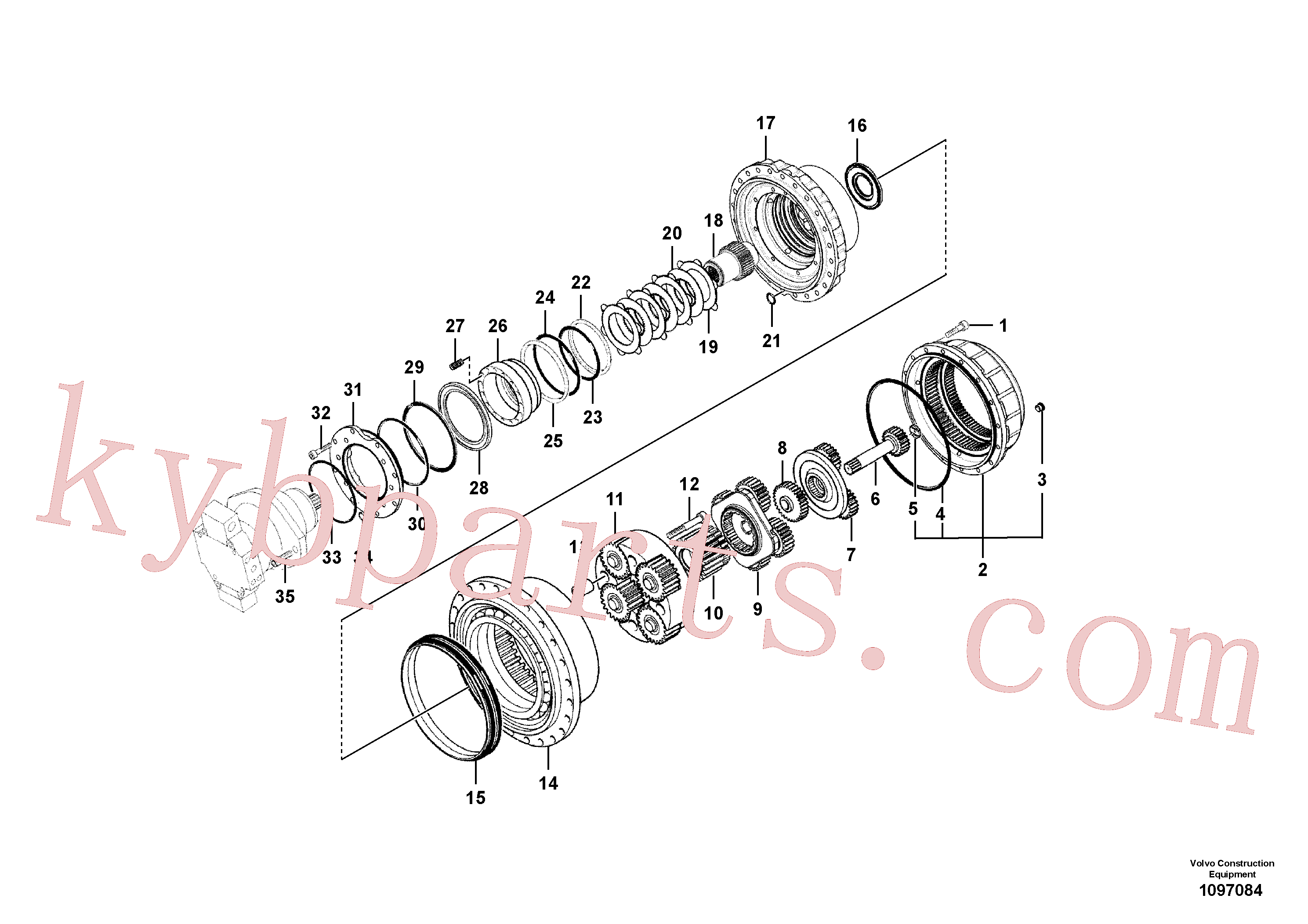 SA8230-35430 for Volvo Travel gearbox(1097084 assembly)