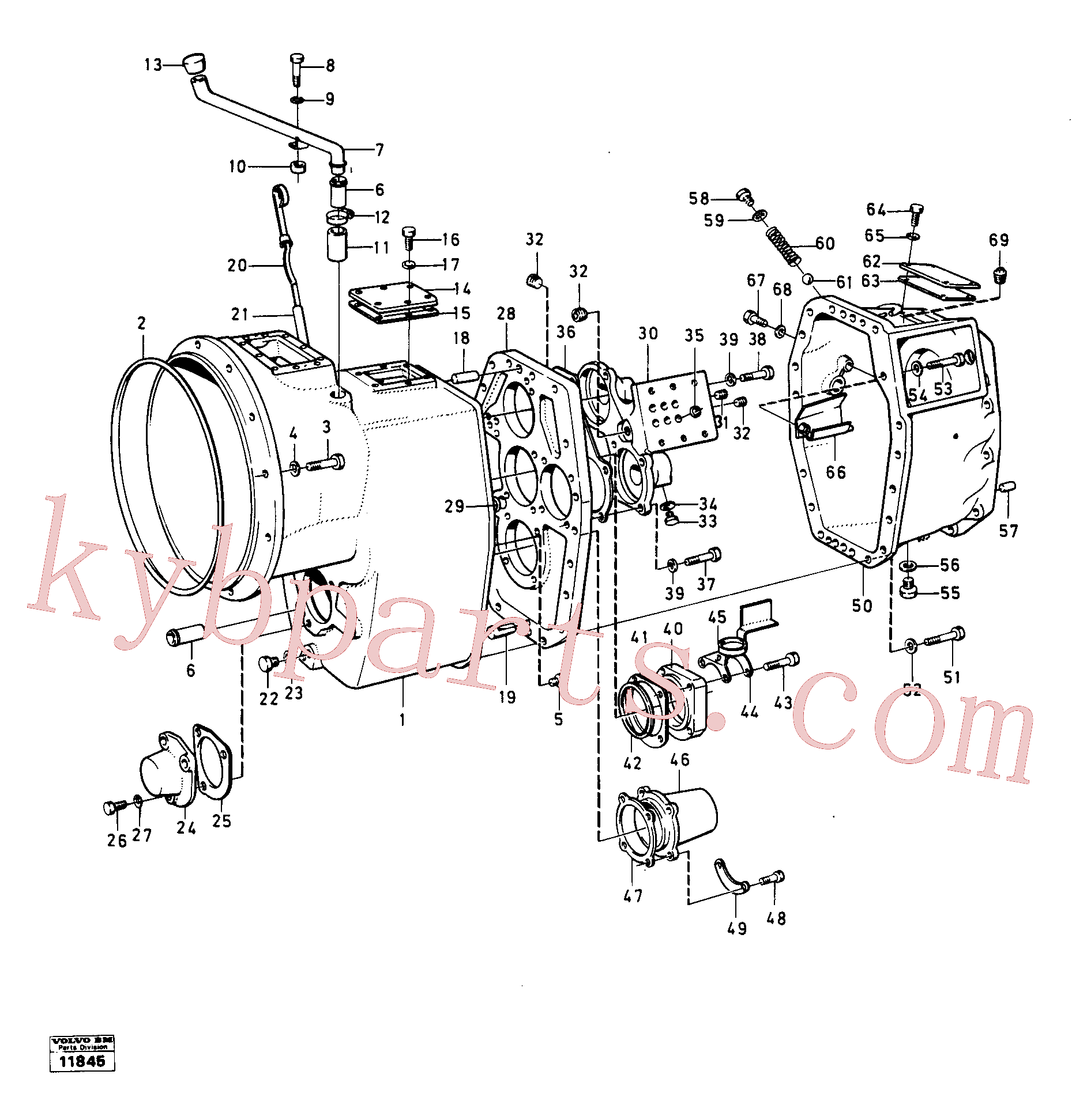 VOE955536 for Volvo Housing,covers and boltings(11845 assembly)