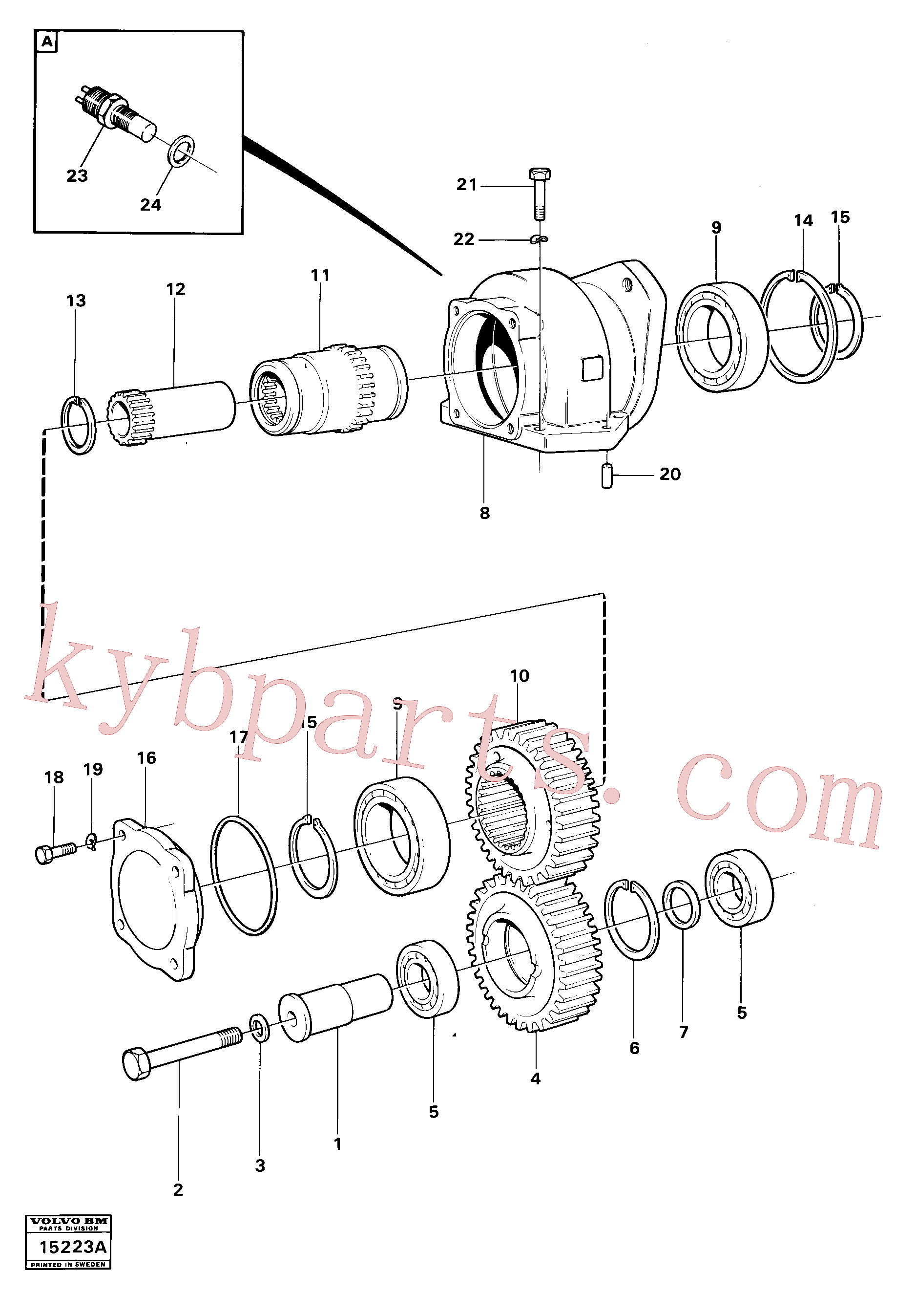 VOE100338 for Volvo Charging oil-pump drive ht -4525(15223A assembly)