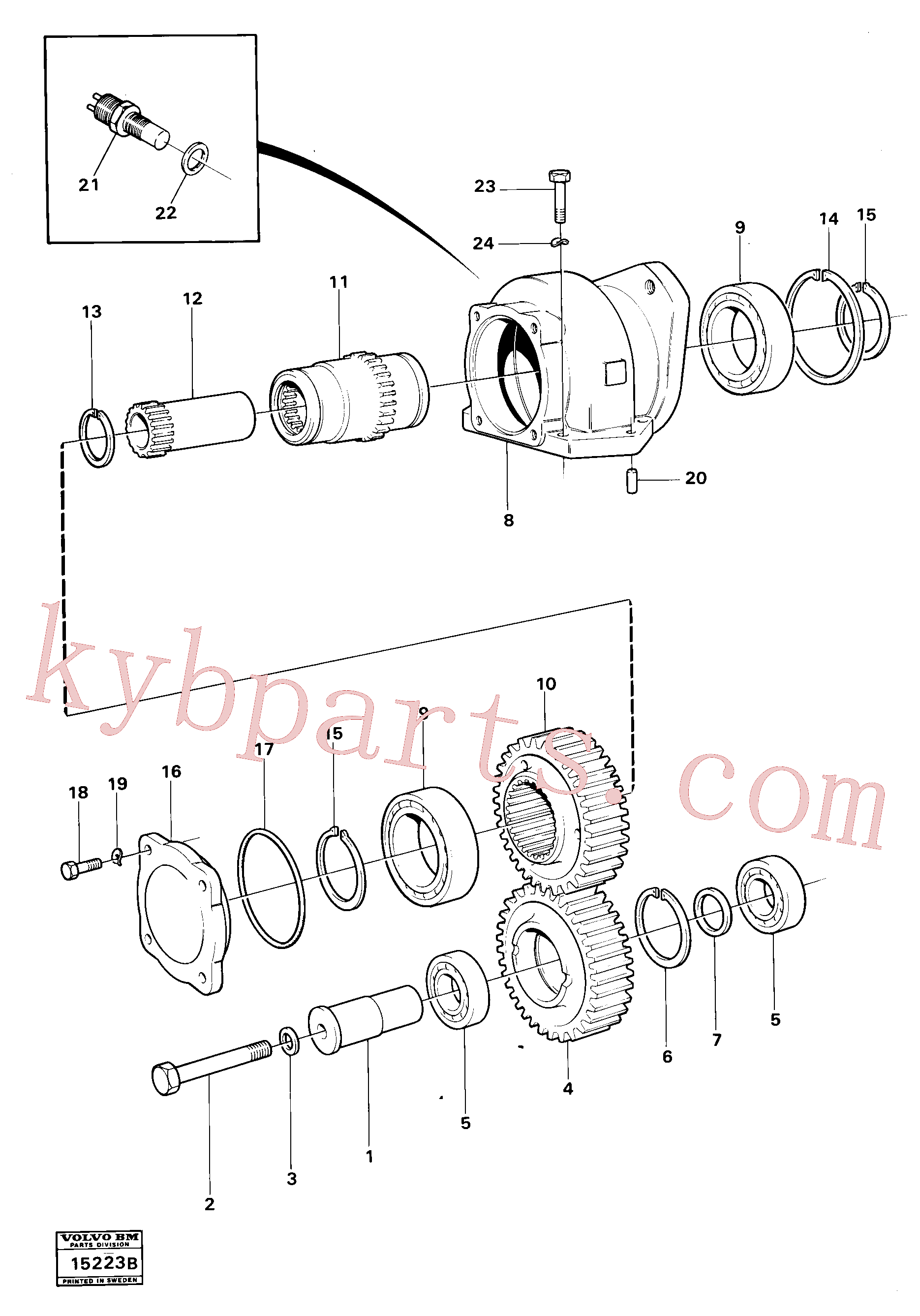 VOE4719962 for Volvo Charging oil-pump drive (ht 120)(15223B assembly)