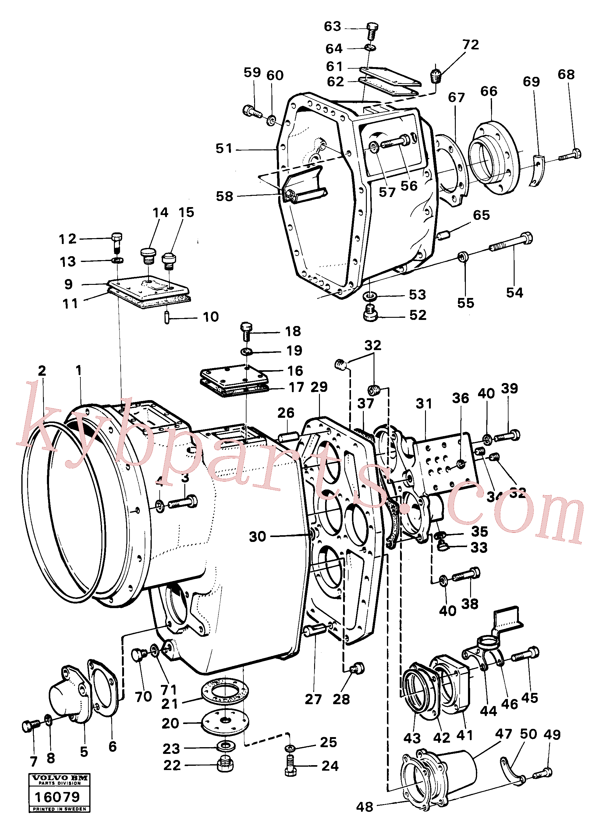 VOE955536 for Volvo Housing,covers and boltings(16079 assembly)