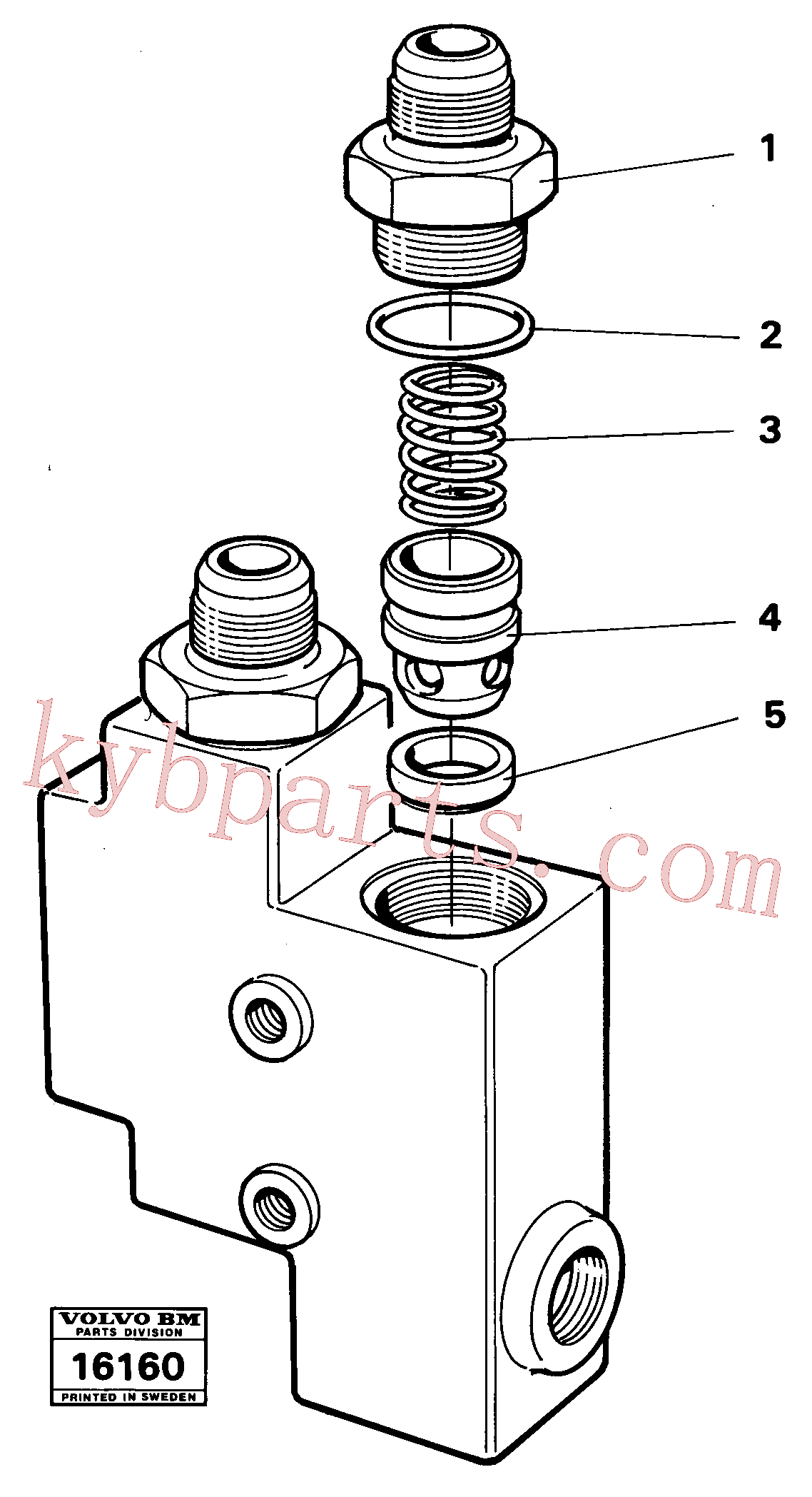 VOE4864483 for Volvo Check valve(16160 assembly)