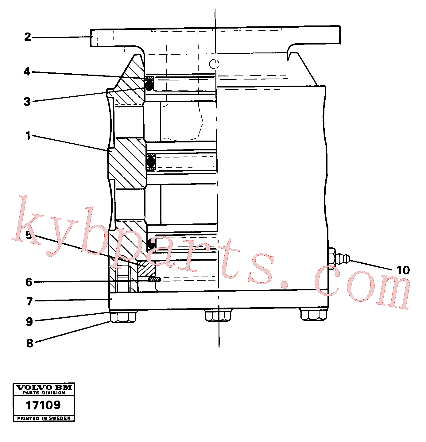 VOE4807055 for Volvo Swivel(17109 assembly)