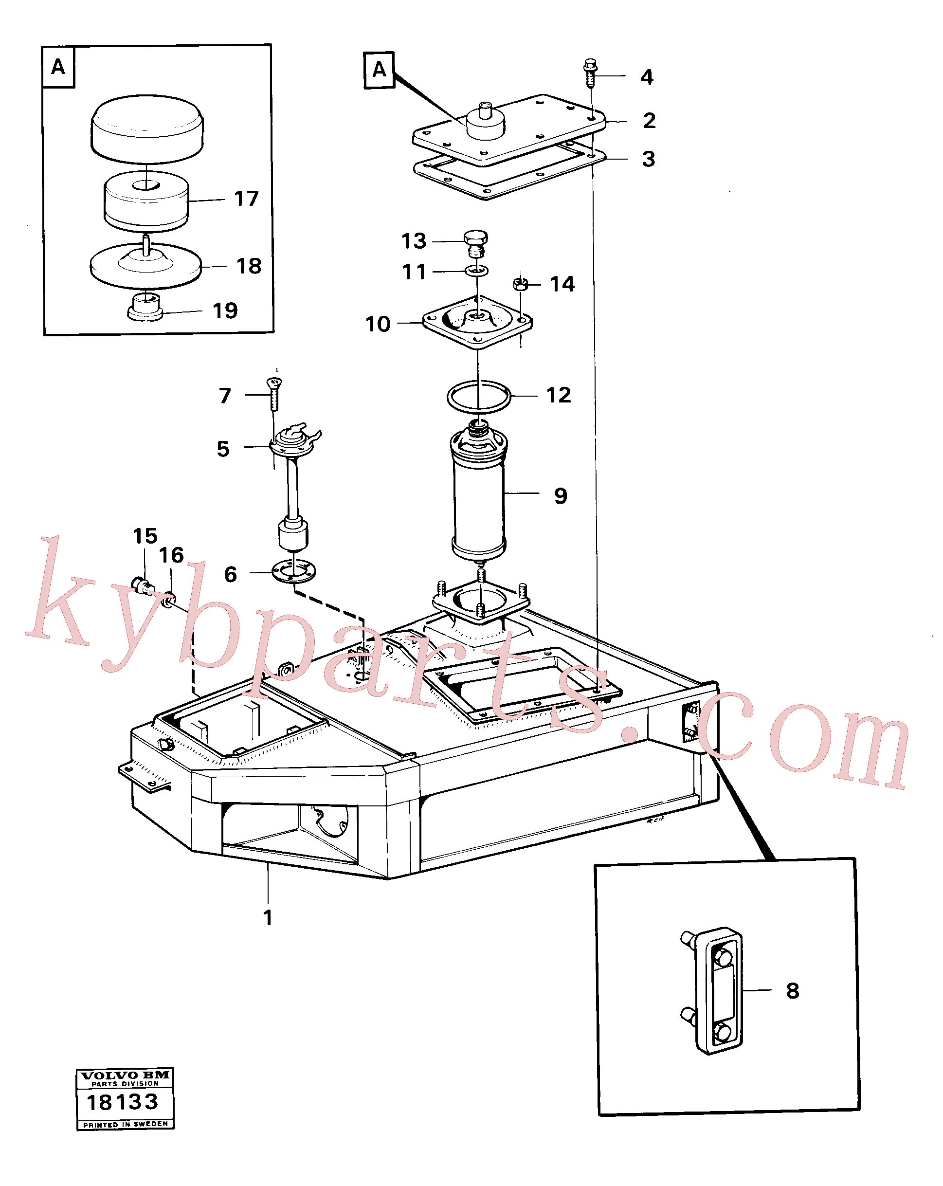VOE6639205 for Volvo Hydraulic tank(18133 assembly)