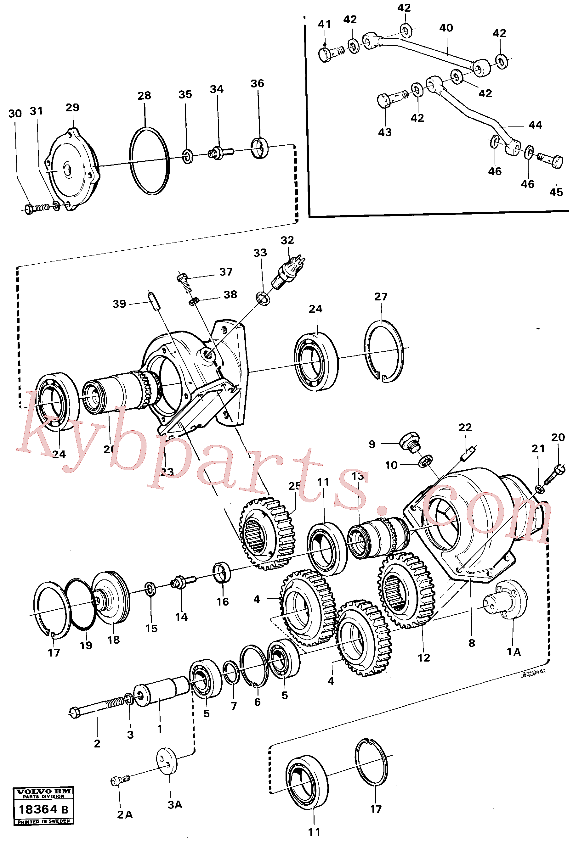 RM59790642 for Volvo Pump drive(18364B assembly)