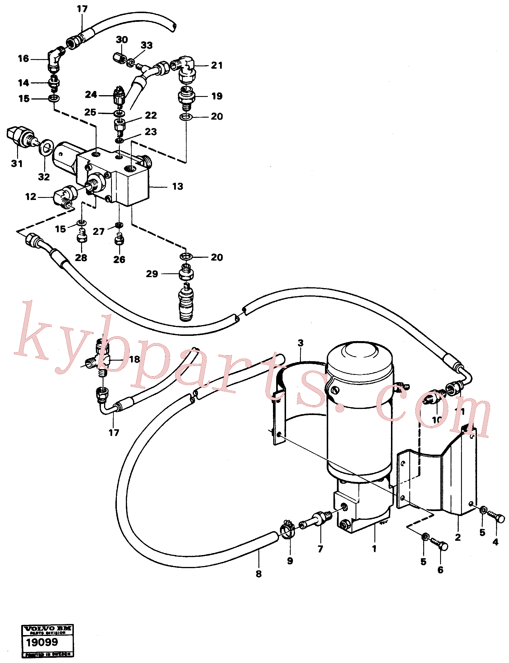 VOE13964057 for Volvo Secondary steering system.(19099 assembly)
