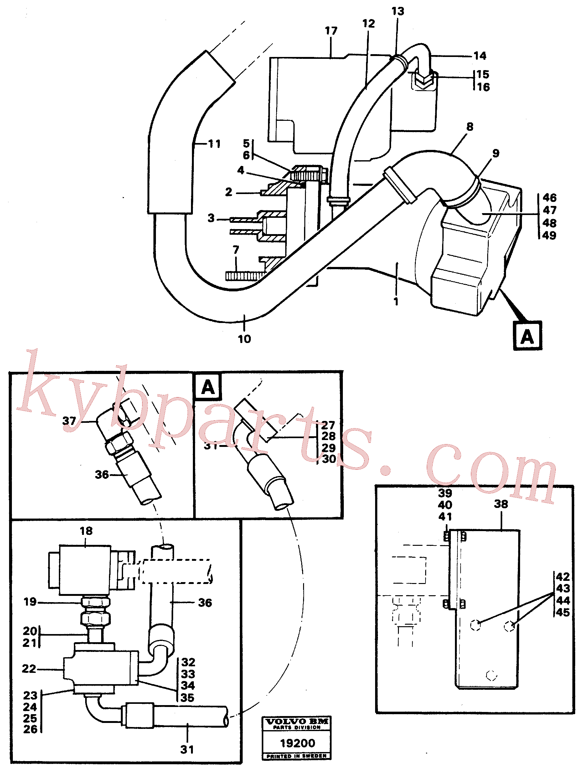VOE955339 for Volvo Hydraulic system, rear 5:th, 6:th function.(19200 assembly)