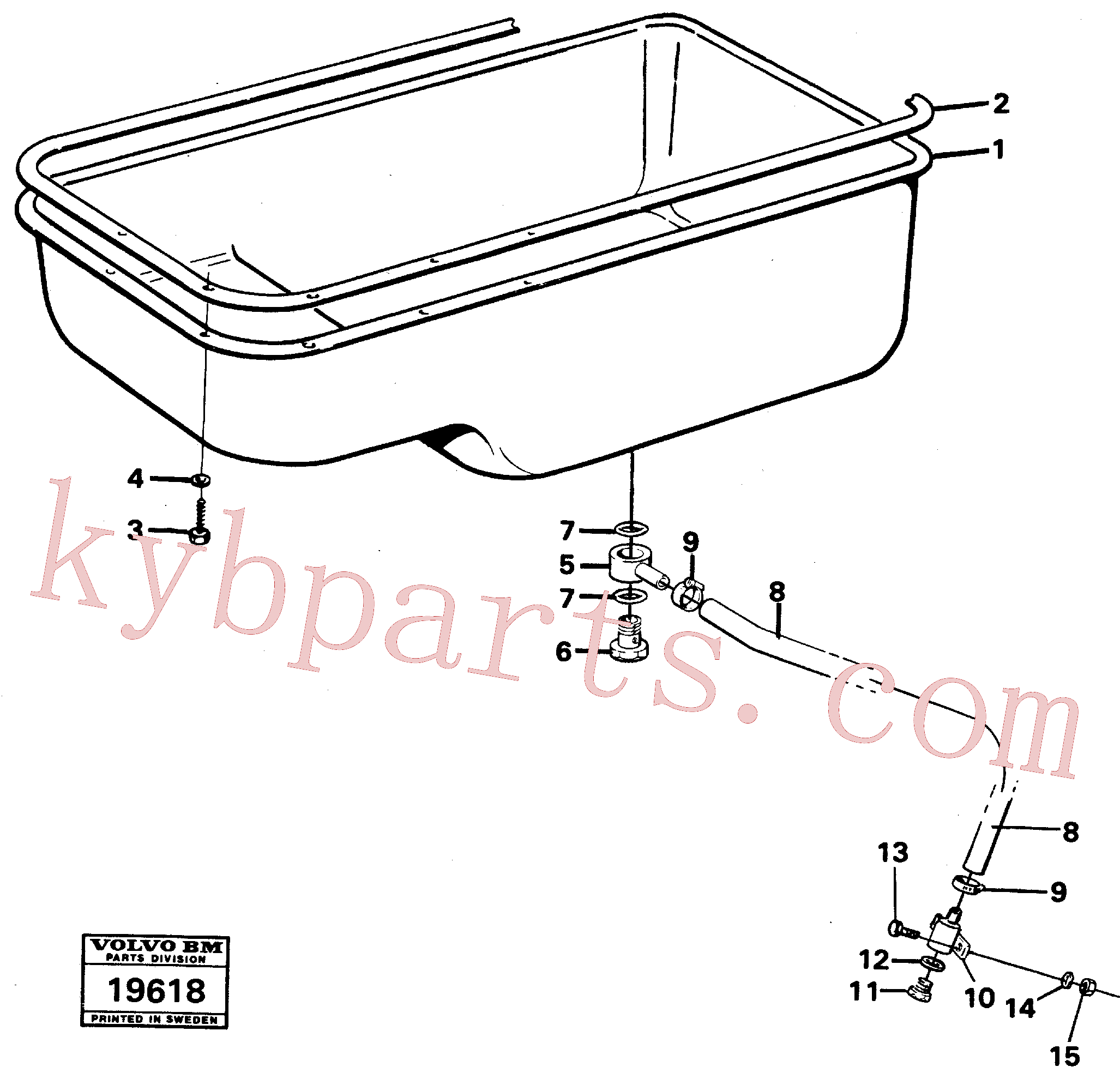 VOE13955997 for Volvo Oil sump(19618 assembly)