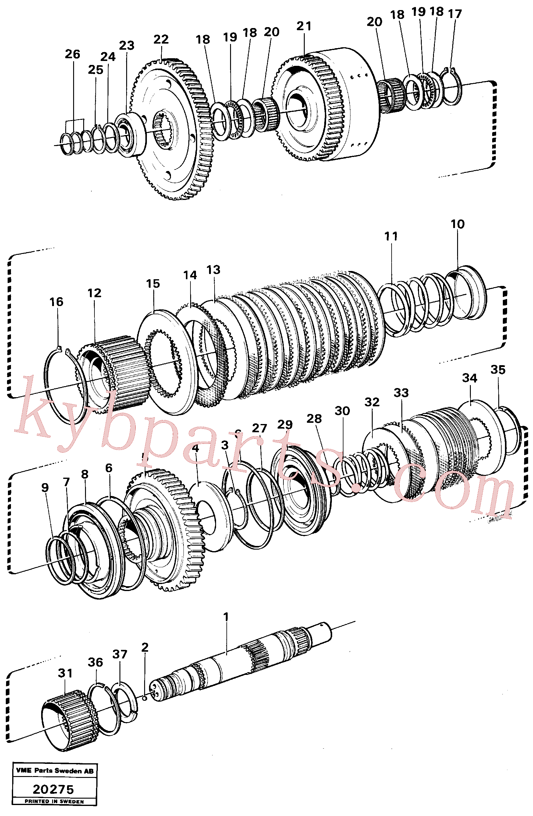 VOE11037178 for Volvo Hydraulic clutch reverse / 2nd speeds.(20275 assembly)