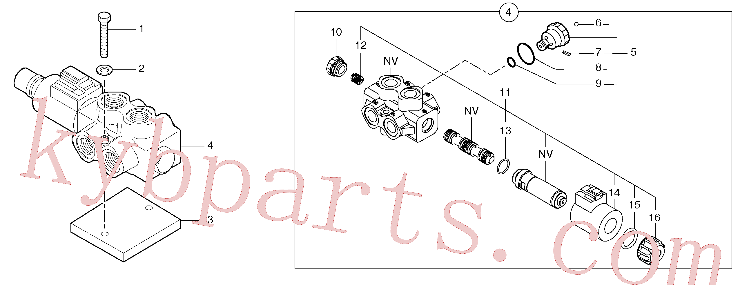 PJ7415277 for Volvo Slewing-offset selector switch(9124Z1 assembly)