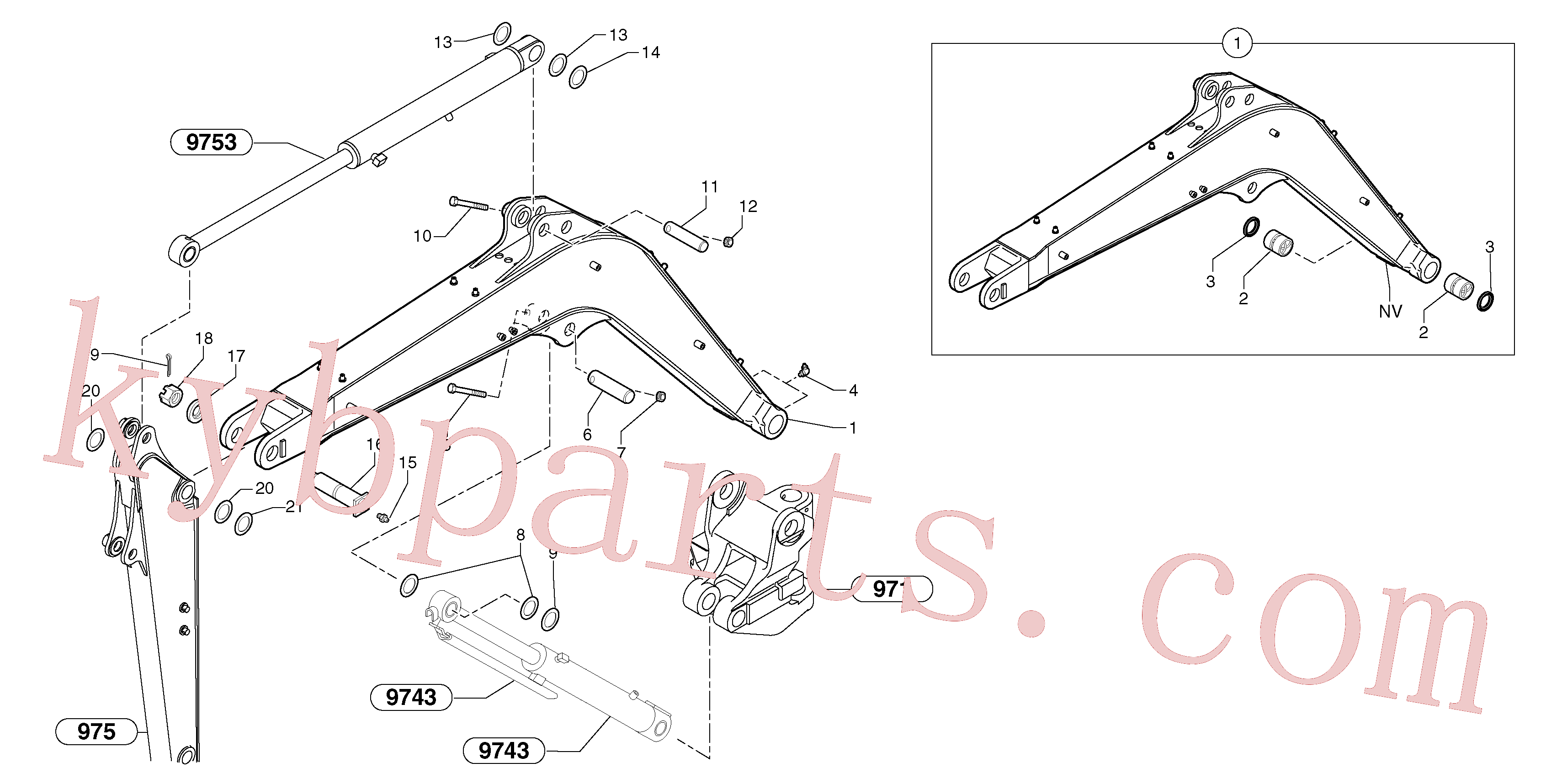 VOE11802313 for Volvo Boom(974Y3 assembly)