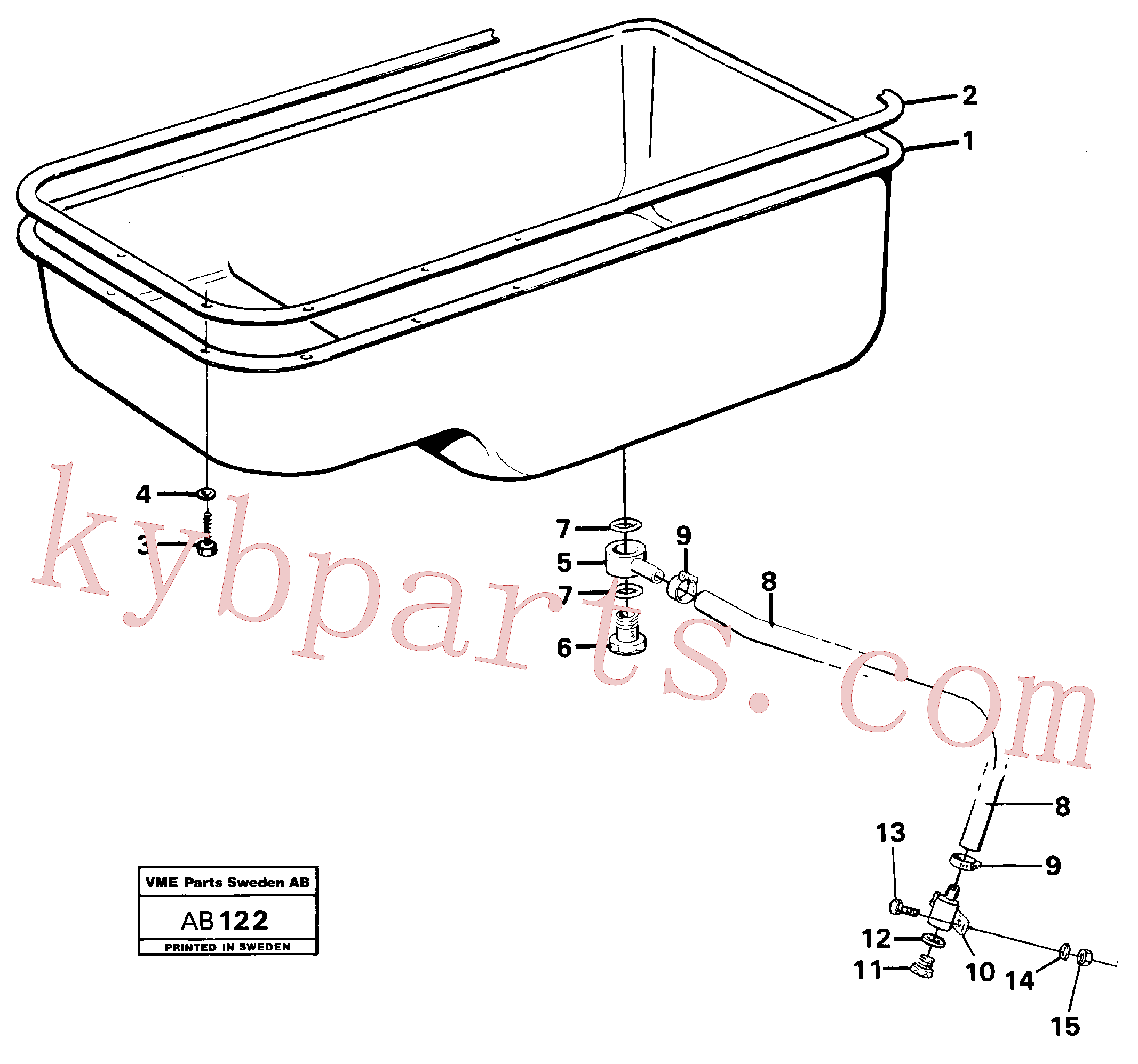 VOE13955997 for Volvo Oil sump(AB122 assembly)