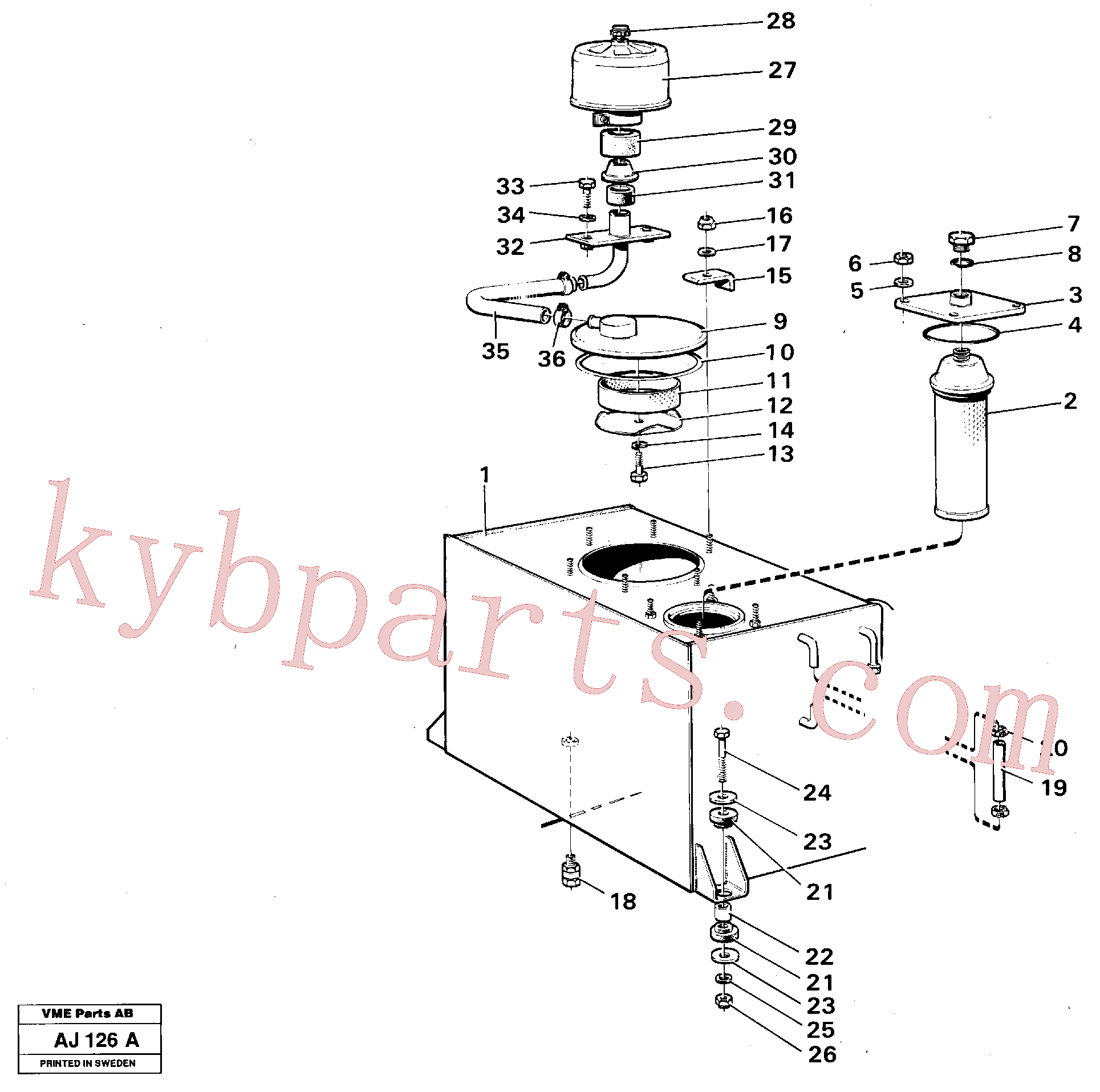 VOE6639205 for Volvo Hydraulic tank(AJ126A assembly)