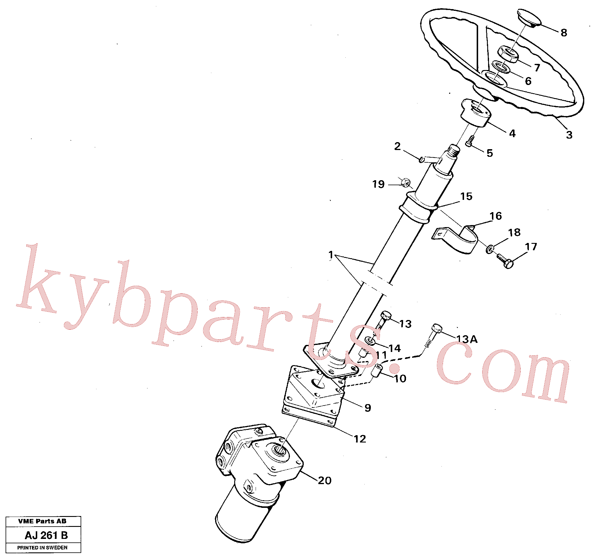 VOE13955326 for Volvo Steering column assembly(AJ261B assembly)