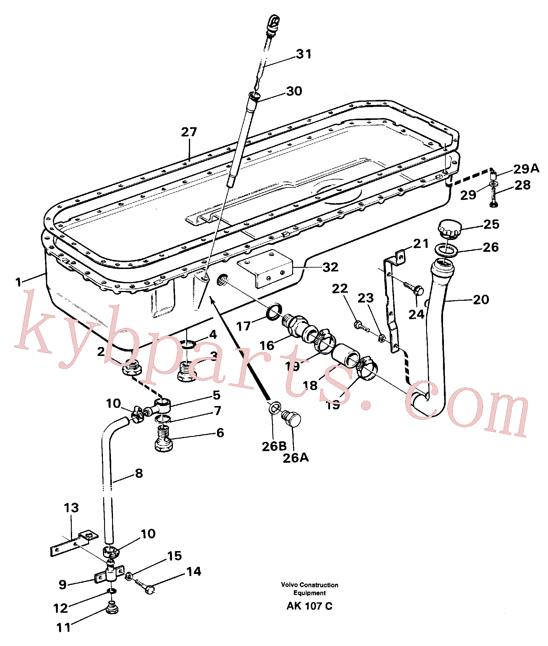 VOE955527 for Volvo Oil sump(AK107C assembly)