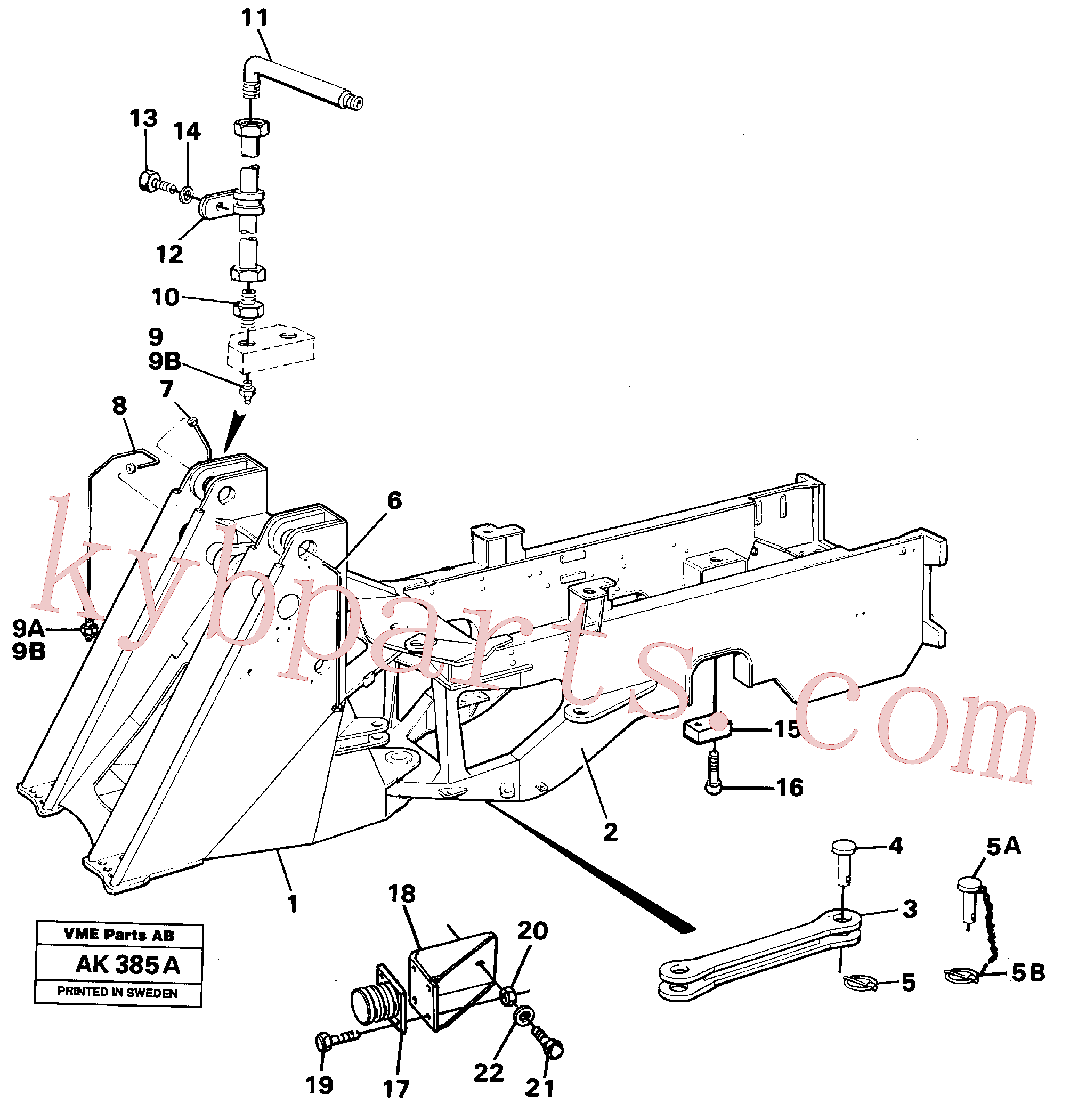 VOE13955370 for Volvo Frame(AK385A assembly)