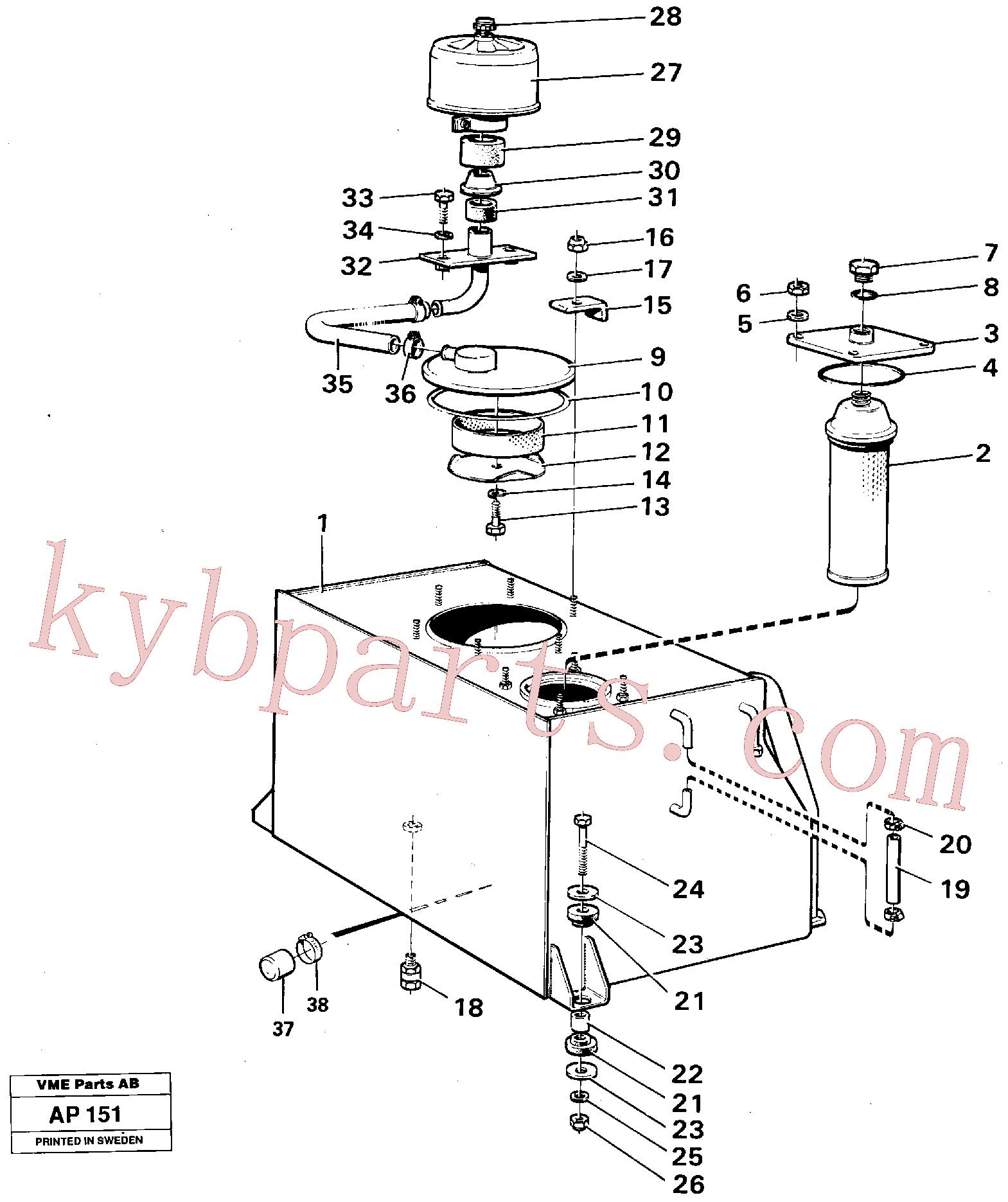 VOE6639205 for Volvo Hydraulic tank(AP151 assembly)