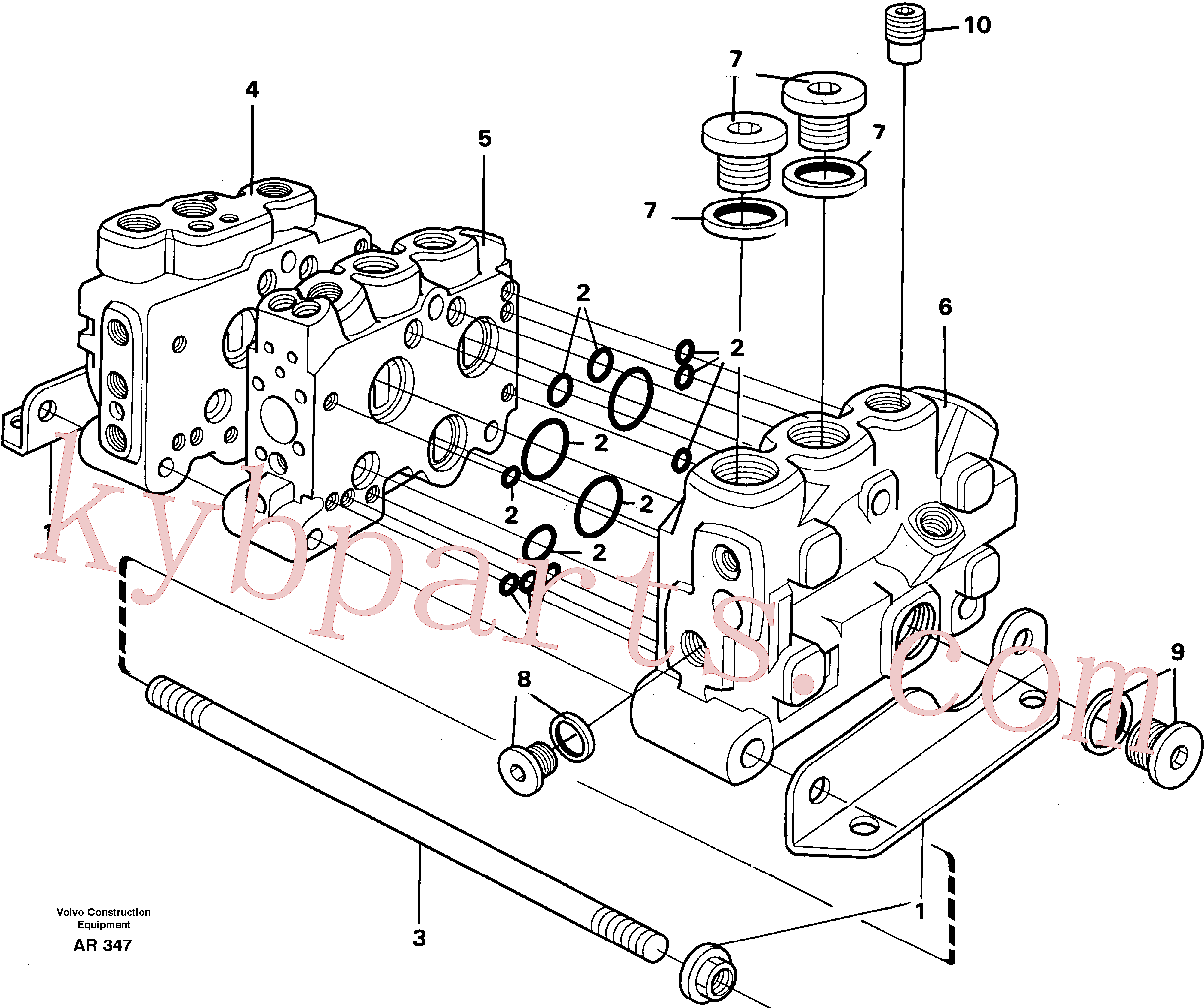VOE11701439 for Volvo Valve section with assembly parts(AR347 assembly)