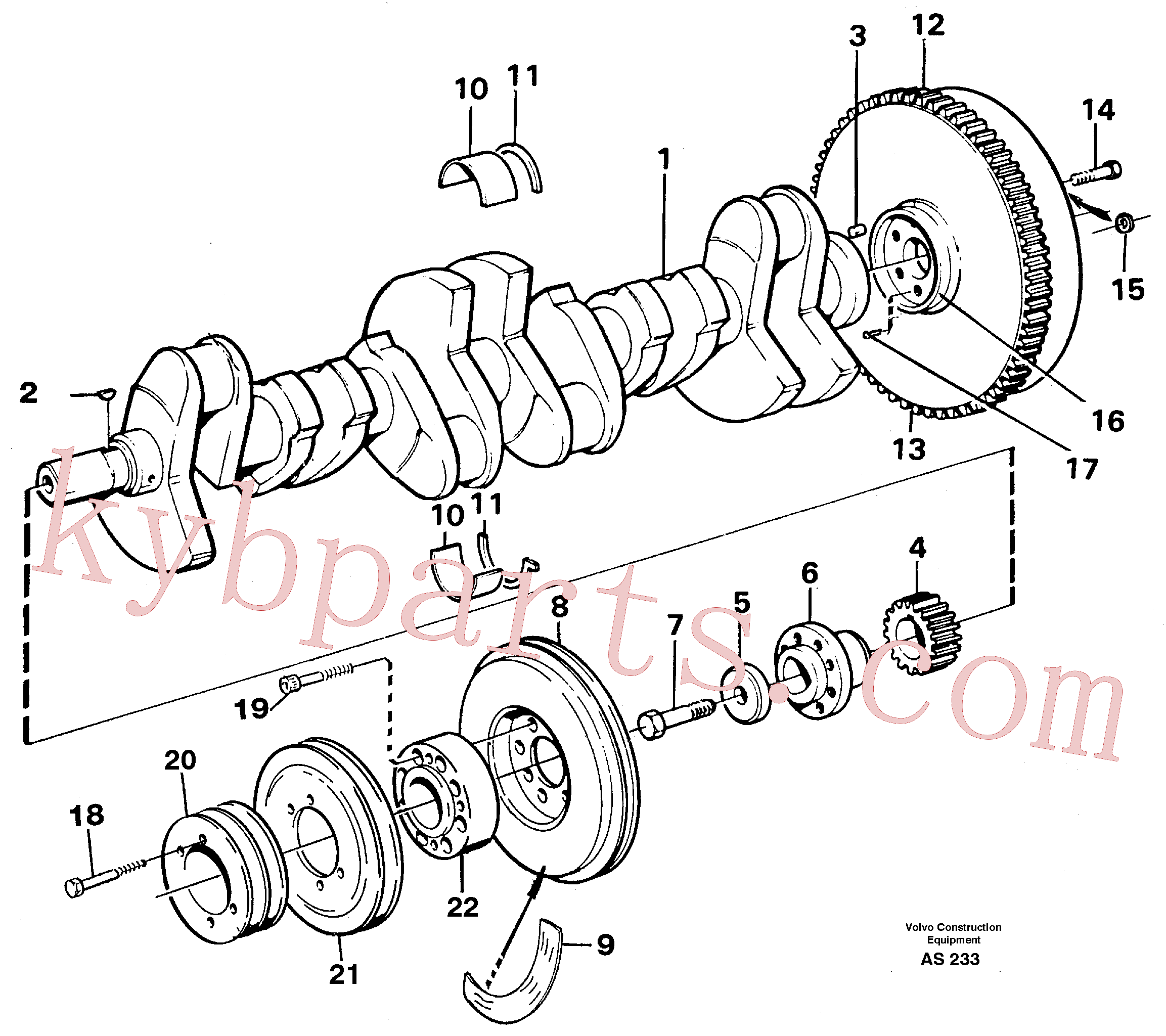 VOE420314 for Volvo Crankshaft and related parts(AS233 assembly)