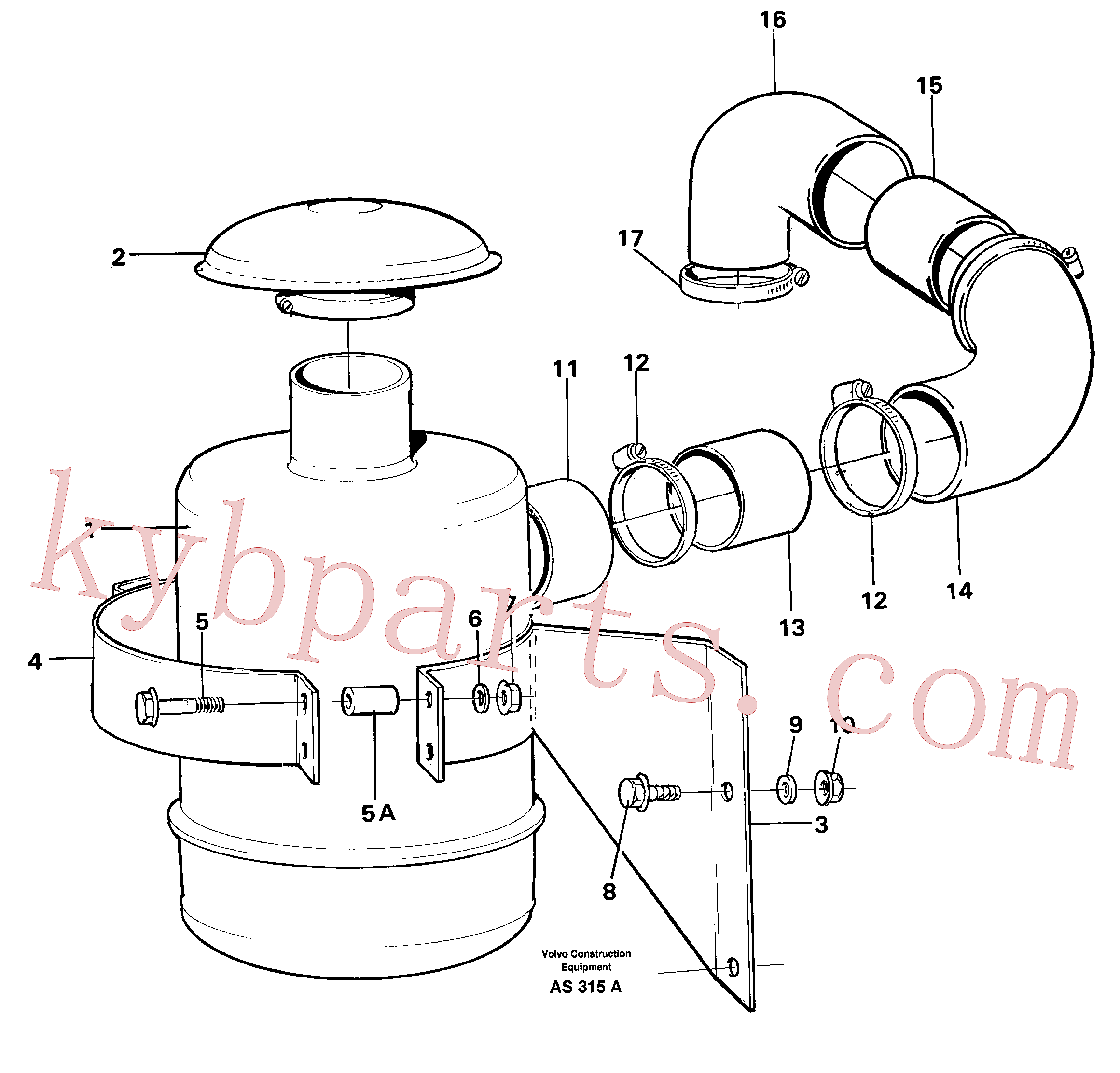 VOE943484 for Volvo Oil bath filter(AS315A assembly)