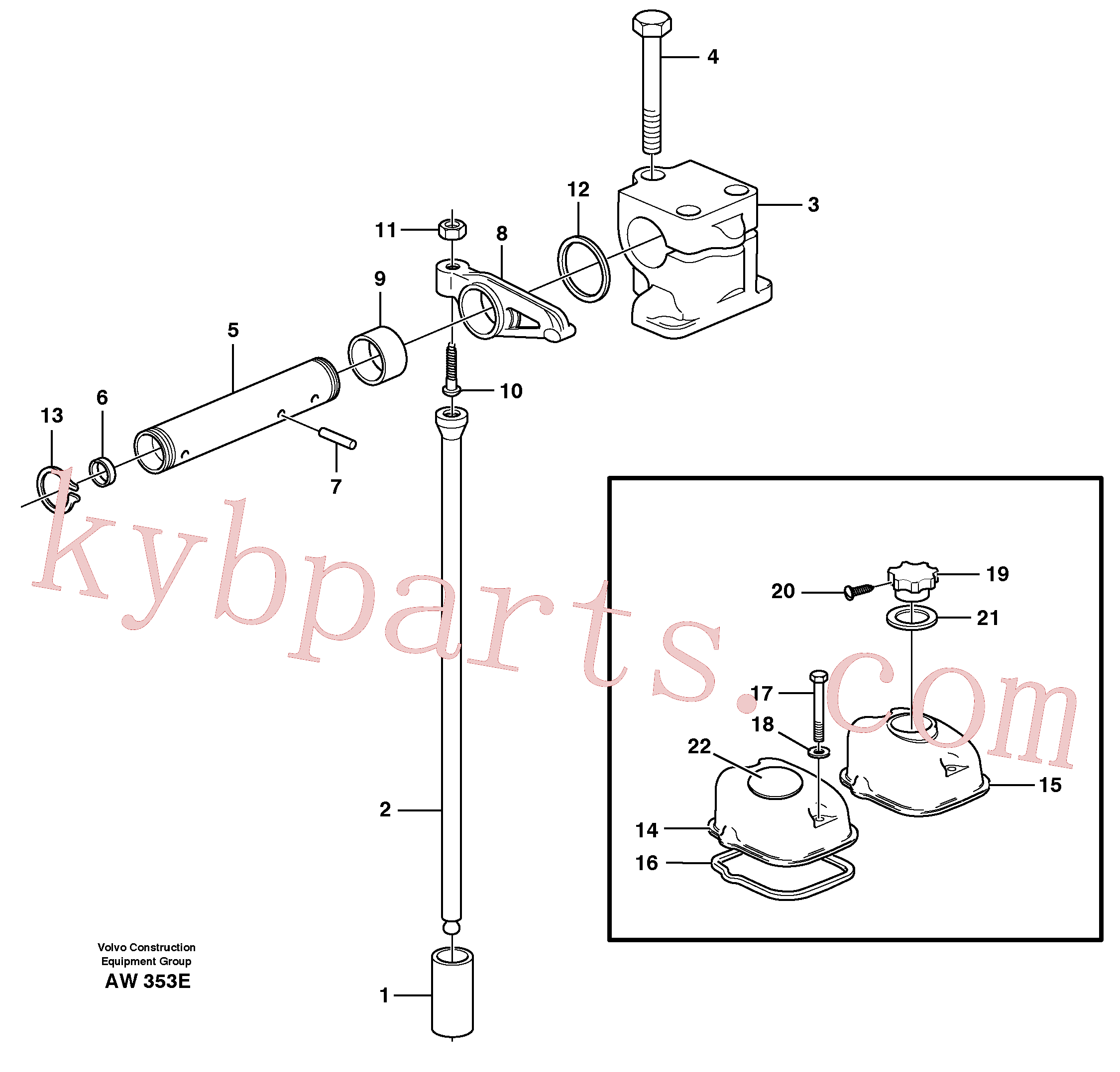 VOE955527 for Volvo Valve mechanism(AW353E assembly)