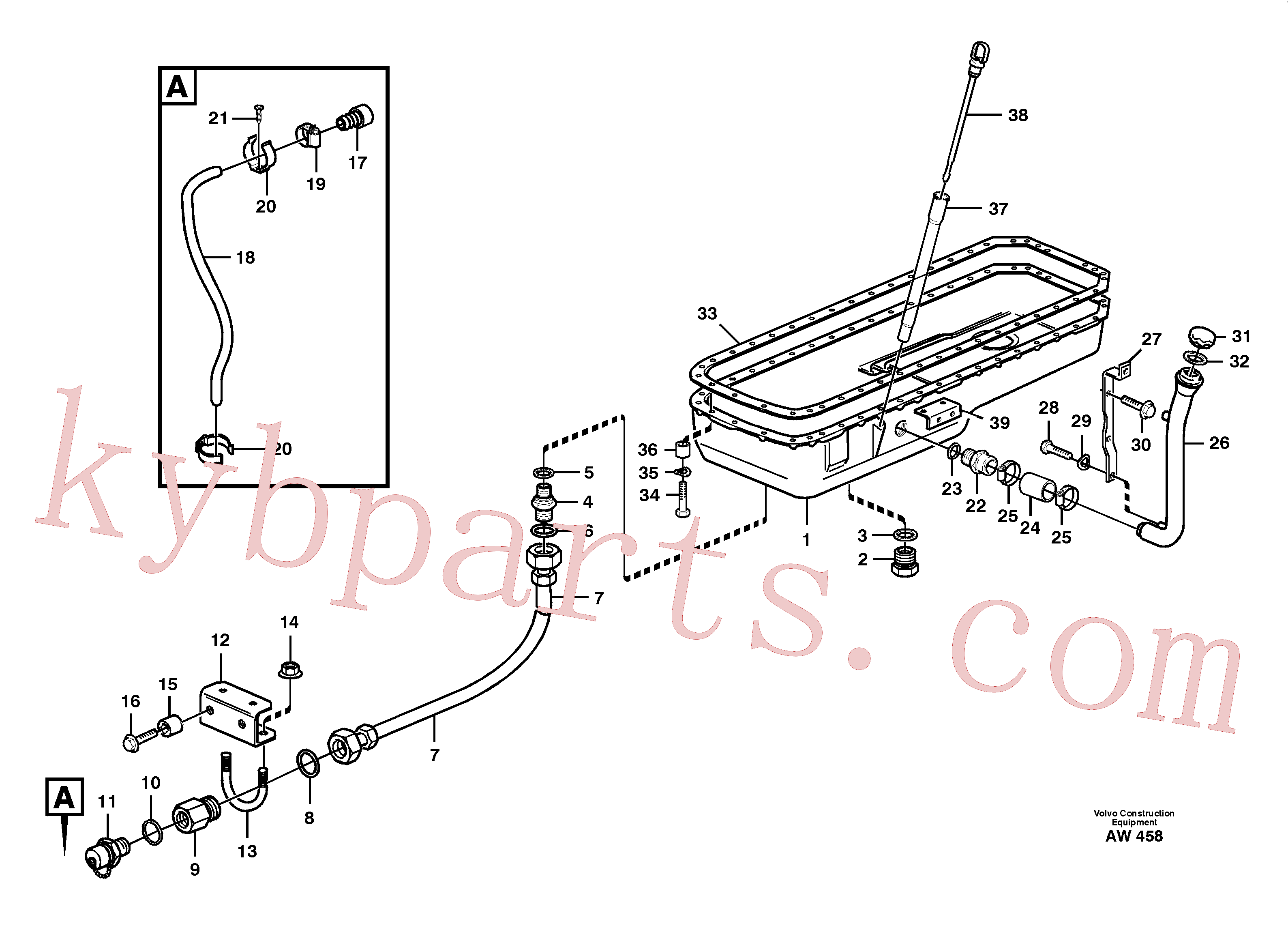 VOE955527 for Volvo Oil sump(AW458 assembly)