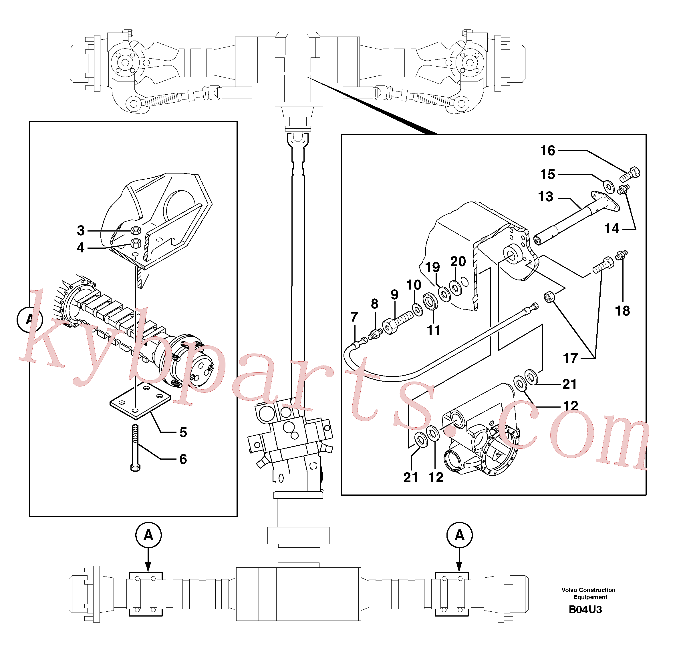VOE982489 for Volvo Axle cradles and mountings(B04U3 assembly)