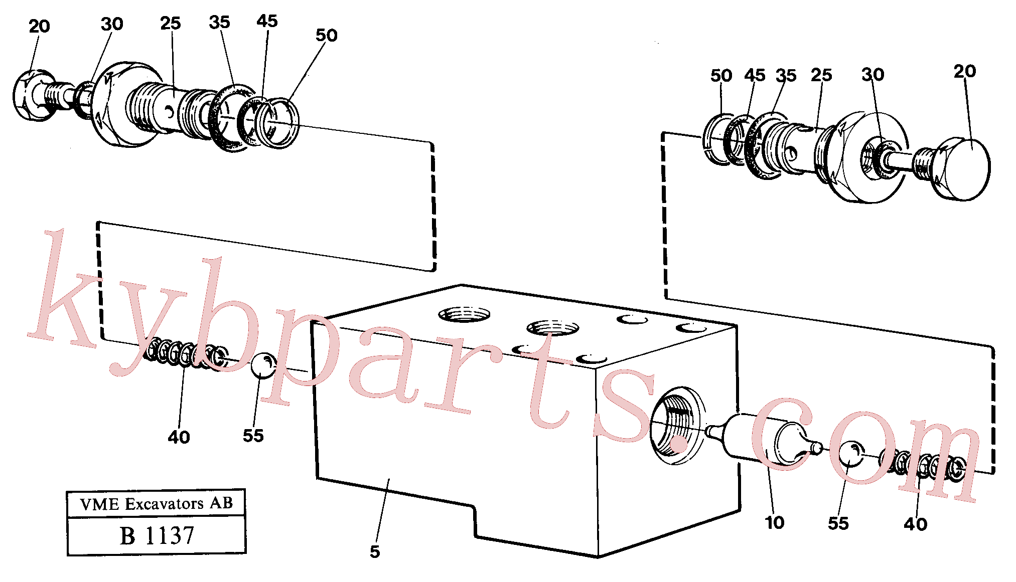 VOE14047848 for Volvo Hydraulic lock outrigger(B1137 assembly)