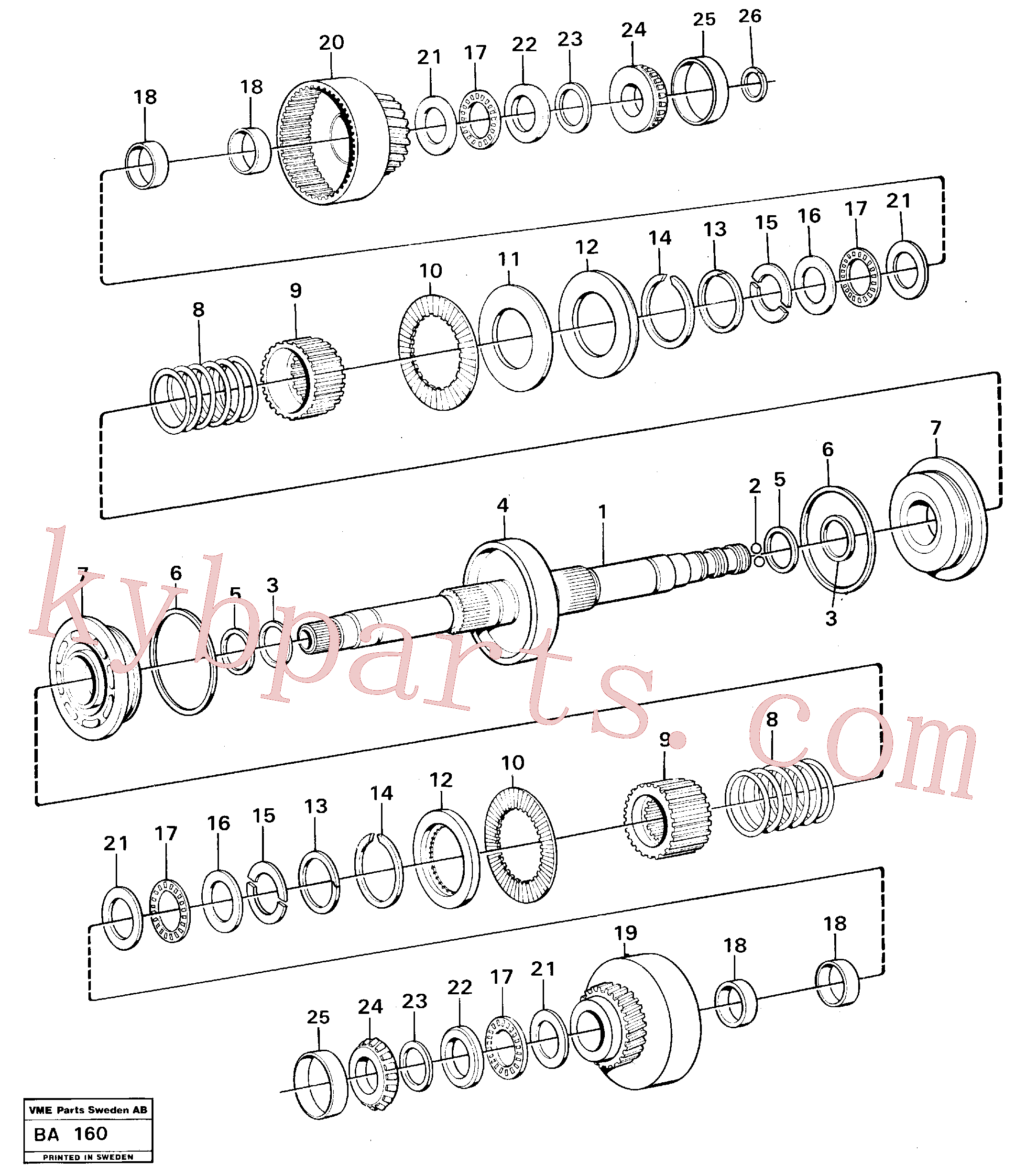 VOE4720797 for Volvo Clutches forward and reverse(BA160 assembly)