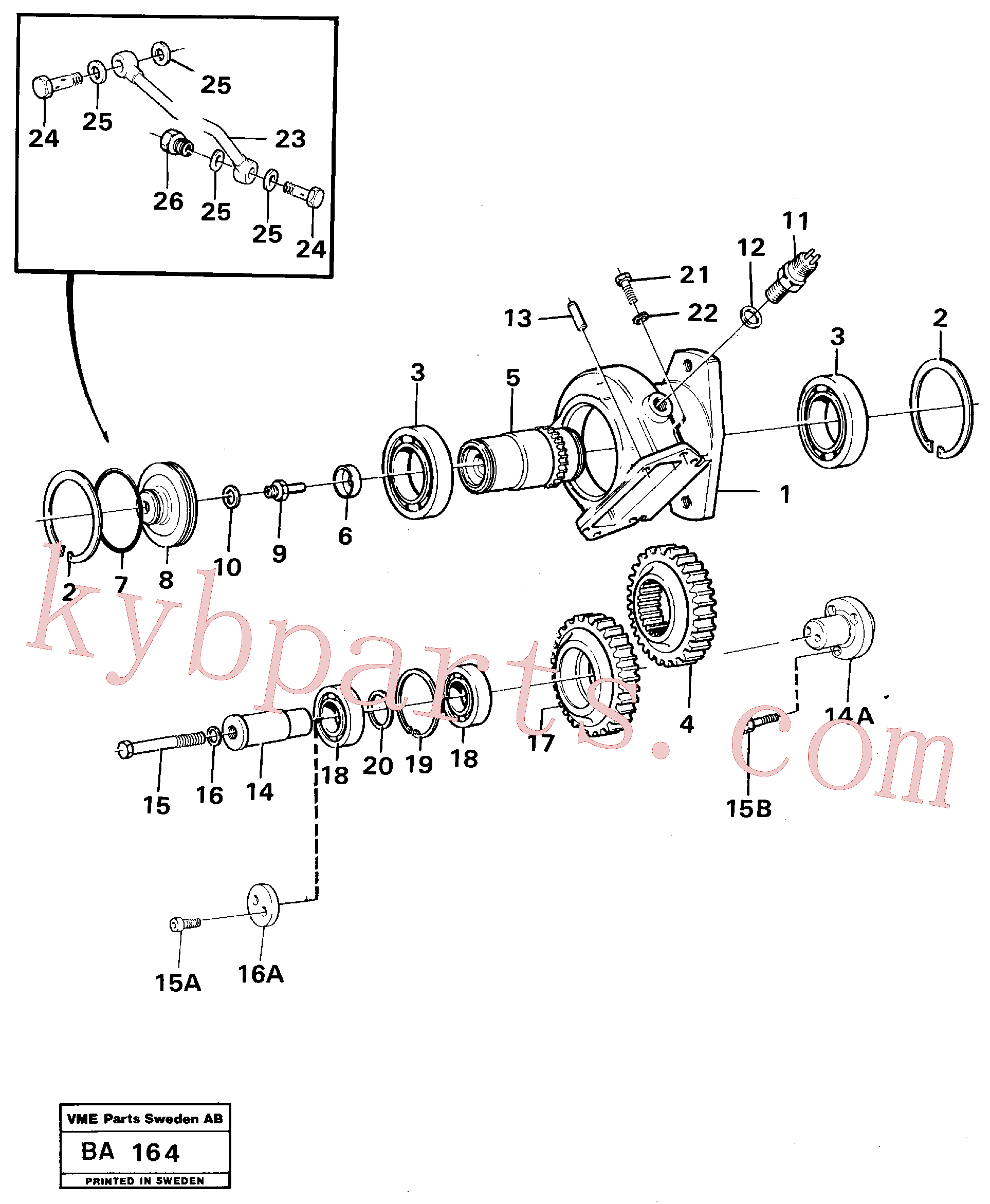 VOE100338 for Volvo Pump drive(BA164 assembly)