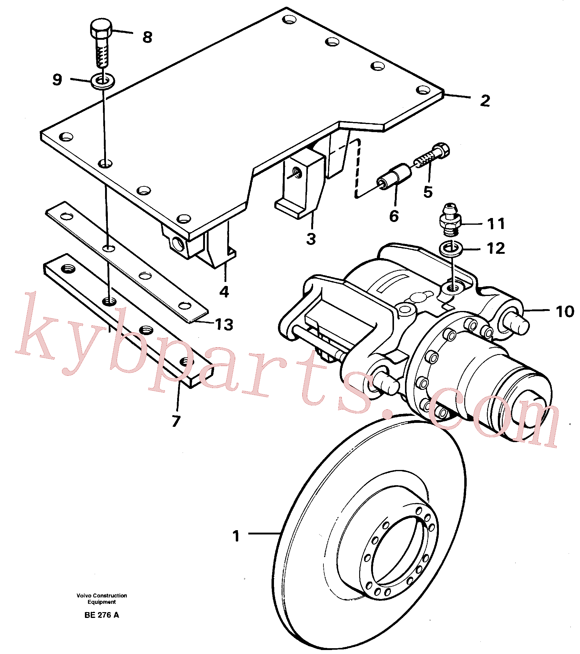 VOE13955370 for Volvo Parking brake(BE276A assembly)
