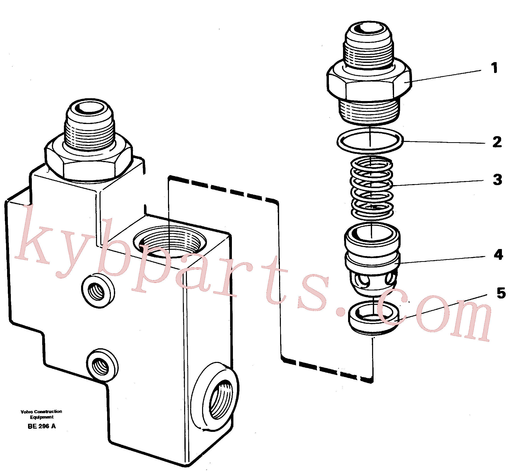 VOE4864483 for Volvo Check valve(BE296A assembly)