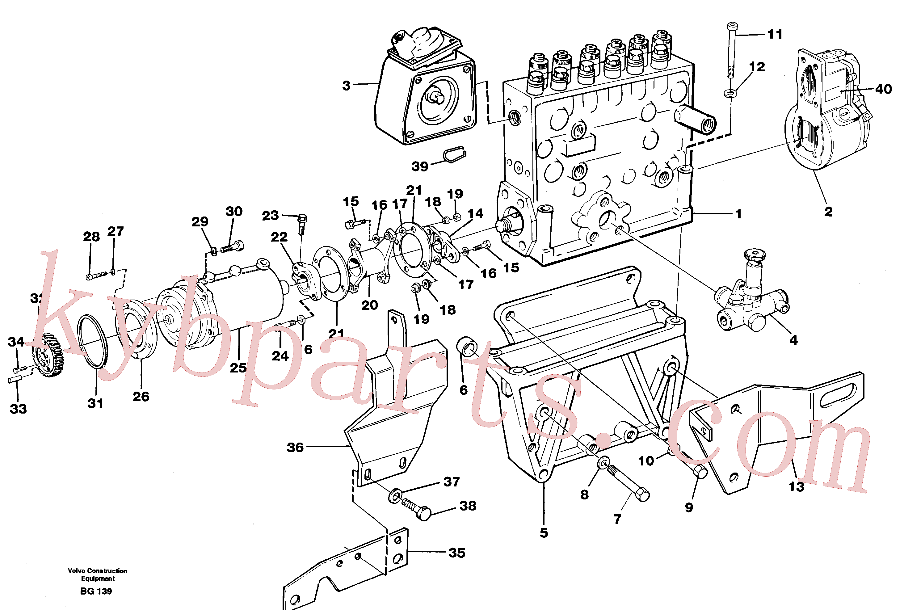 VOE479696 for Volvo Fuel injection pump with fitting parts(BG139 assembly)