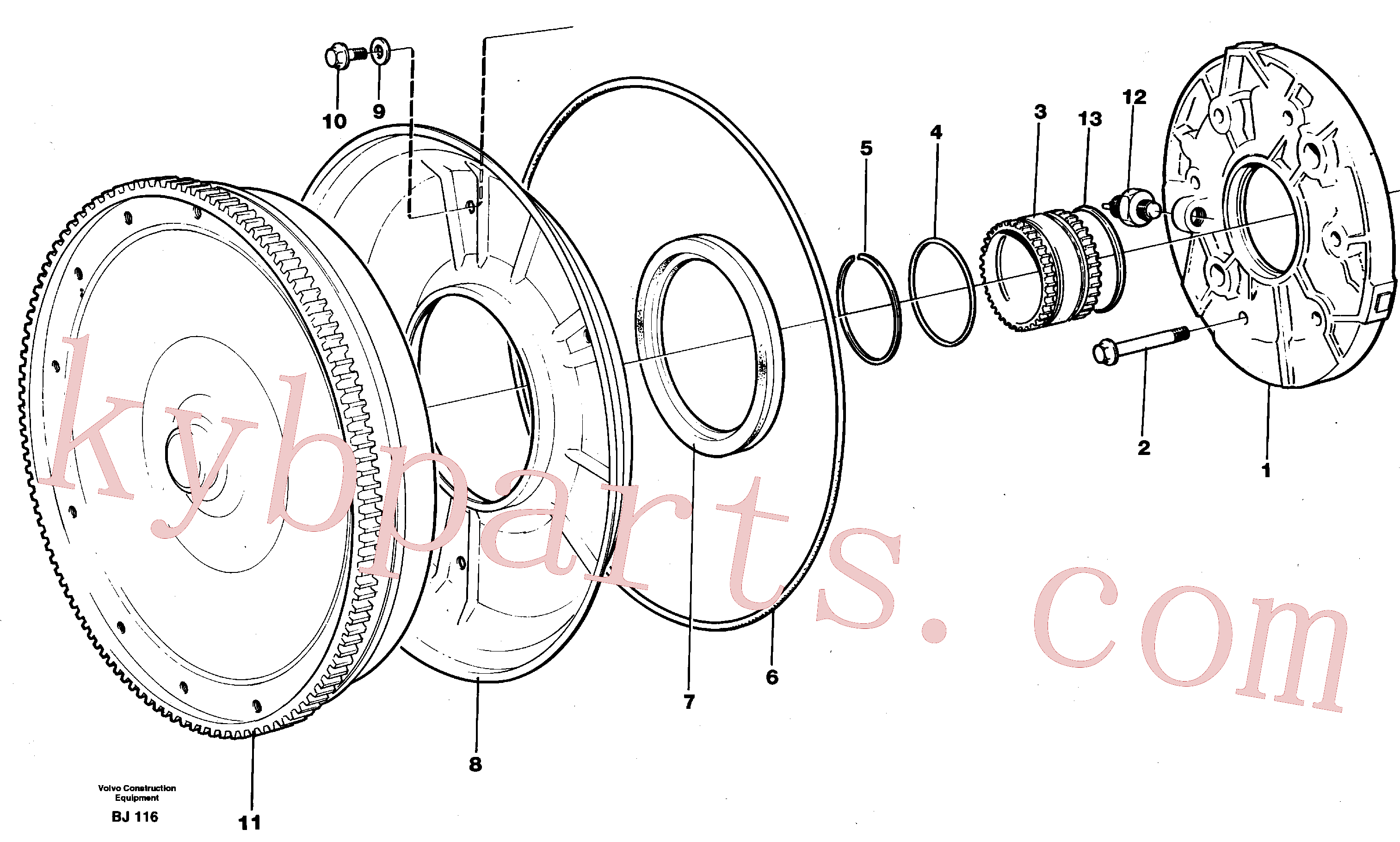VOE945512 for Volvo Torque converter and oil pump(BJ116 assembly)