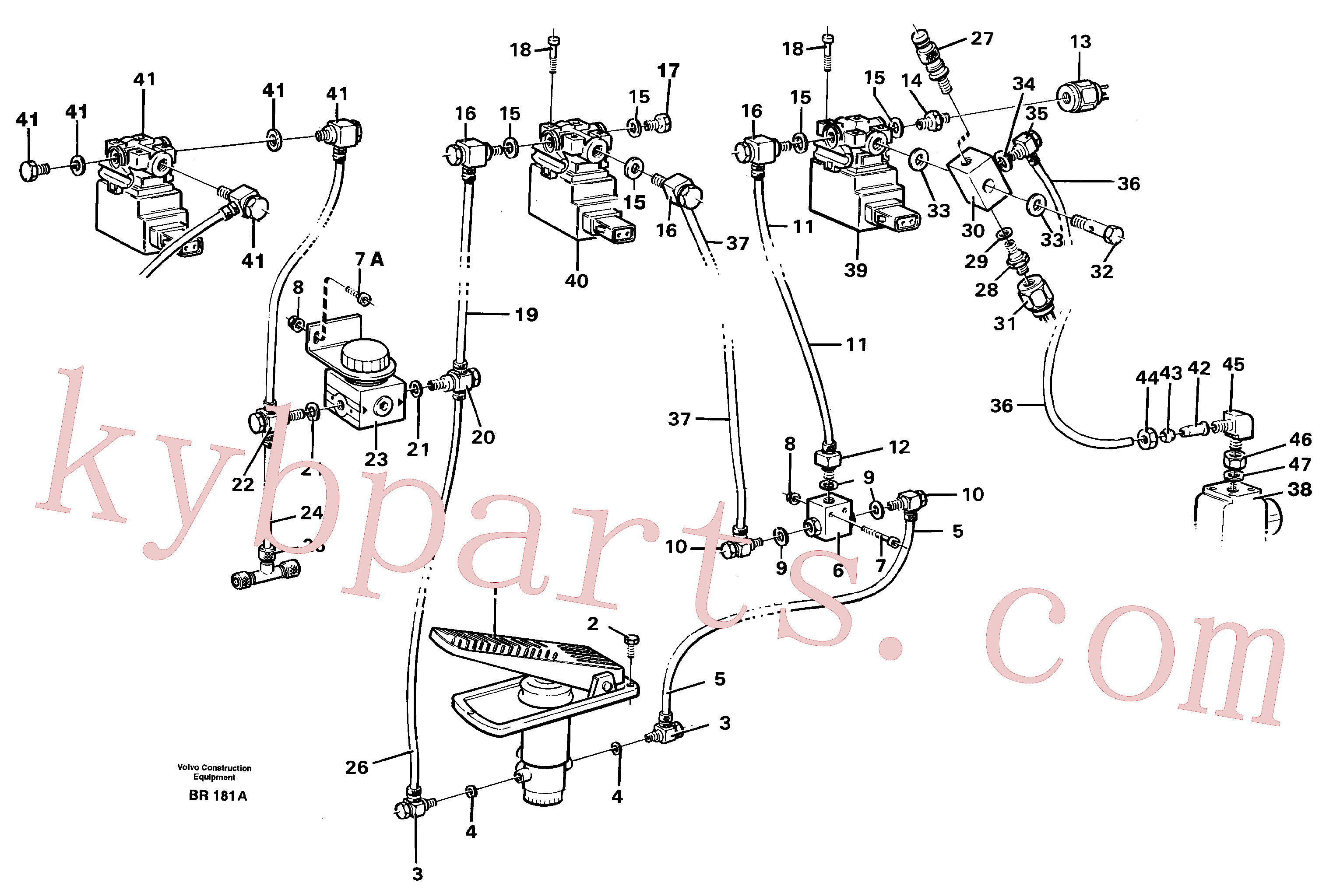 VOE971310 for Volvo Pneumatic air system, transmission(BR181A assembly)