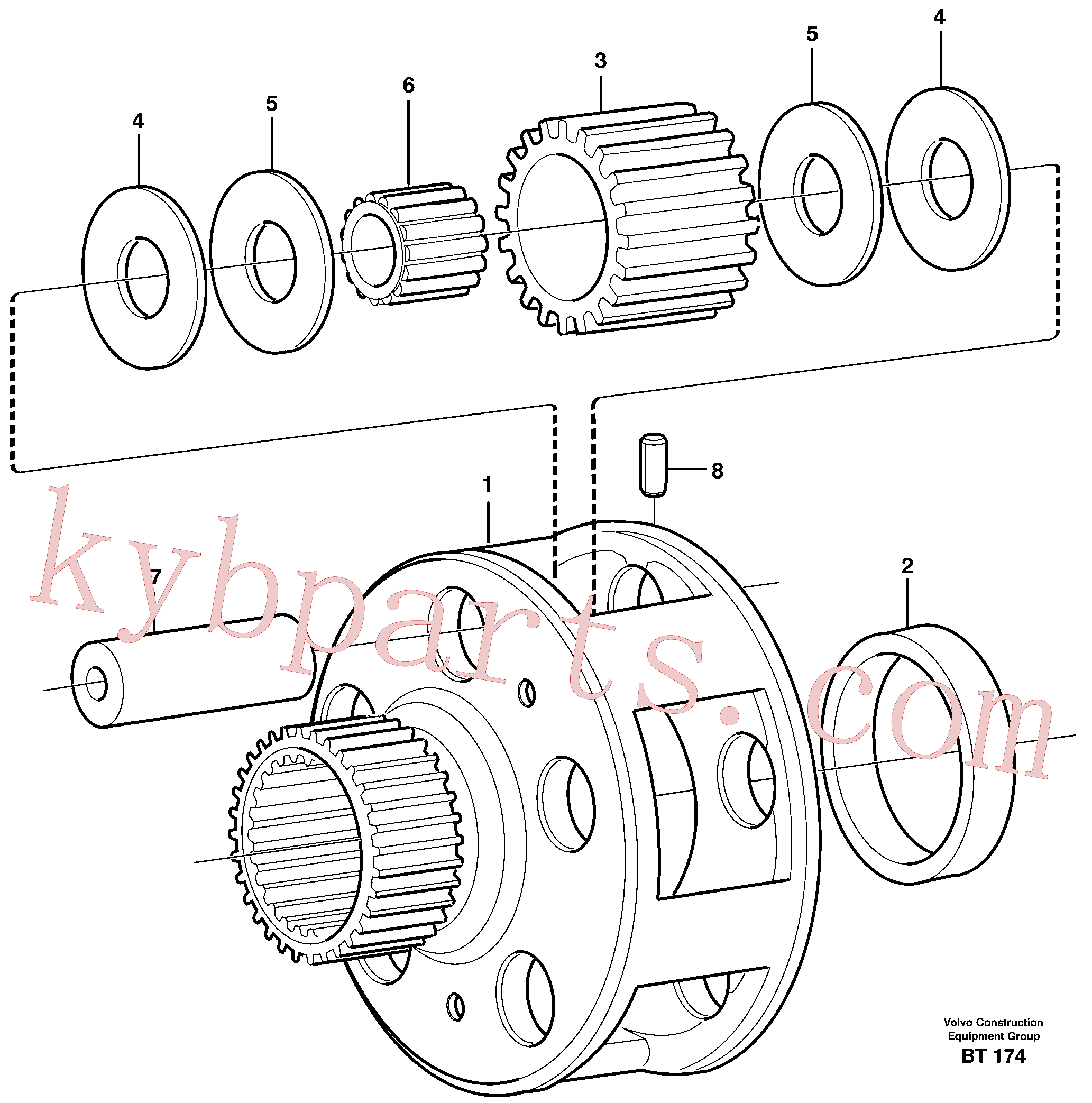 VOE11036759 for Volvo Planet kit, stage 4(BT174 assembly)
